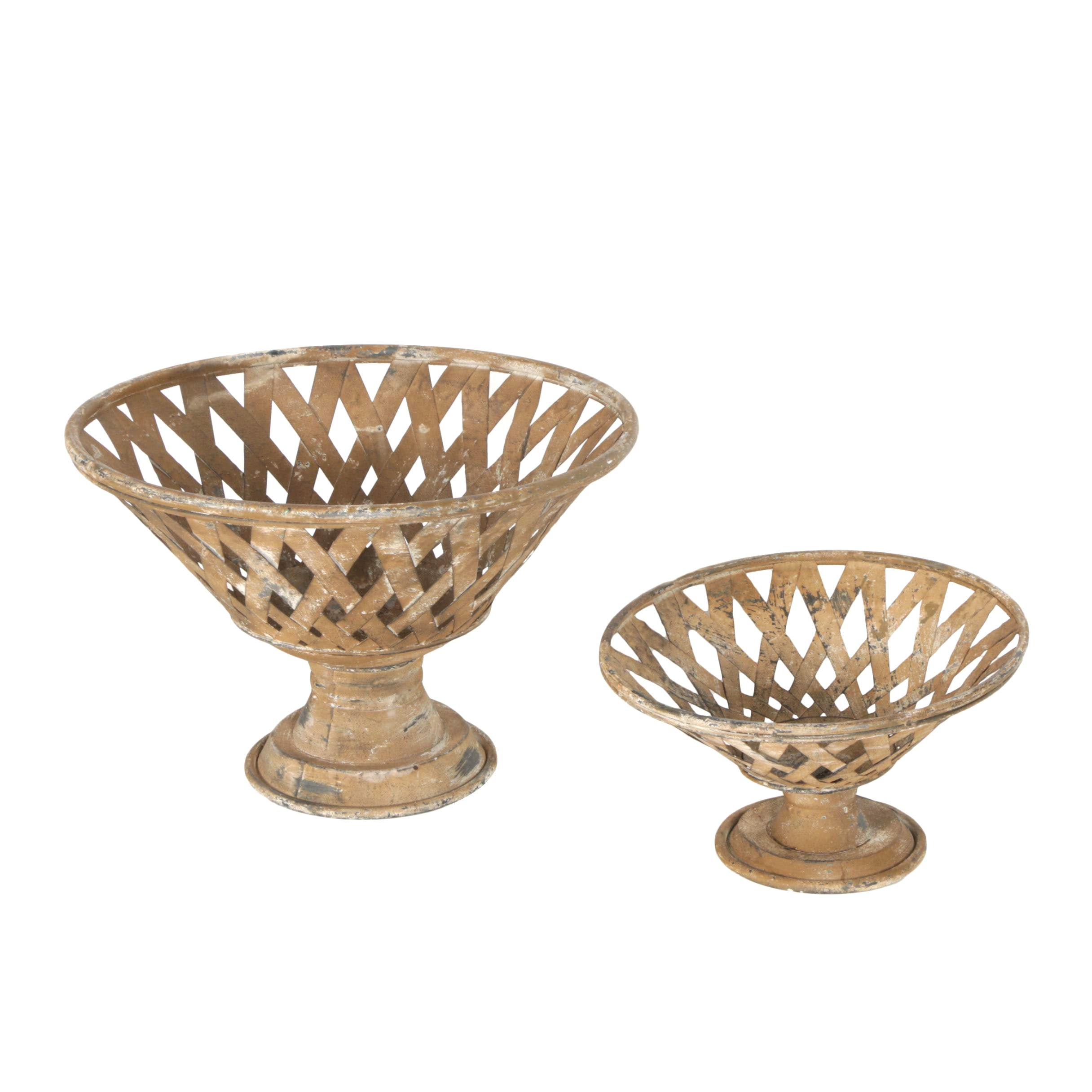 Round Metal Footed Baskets