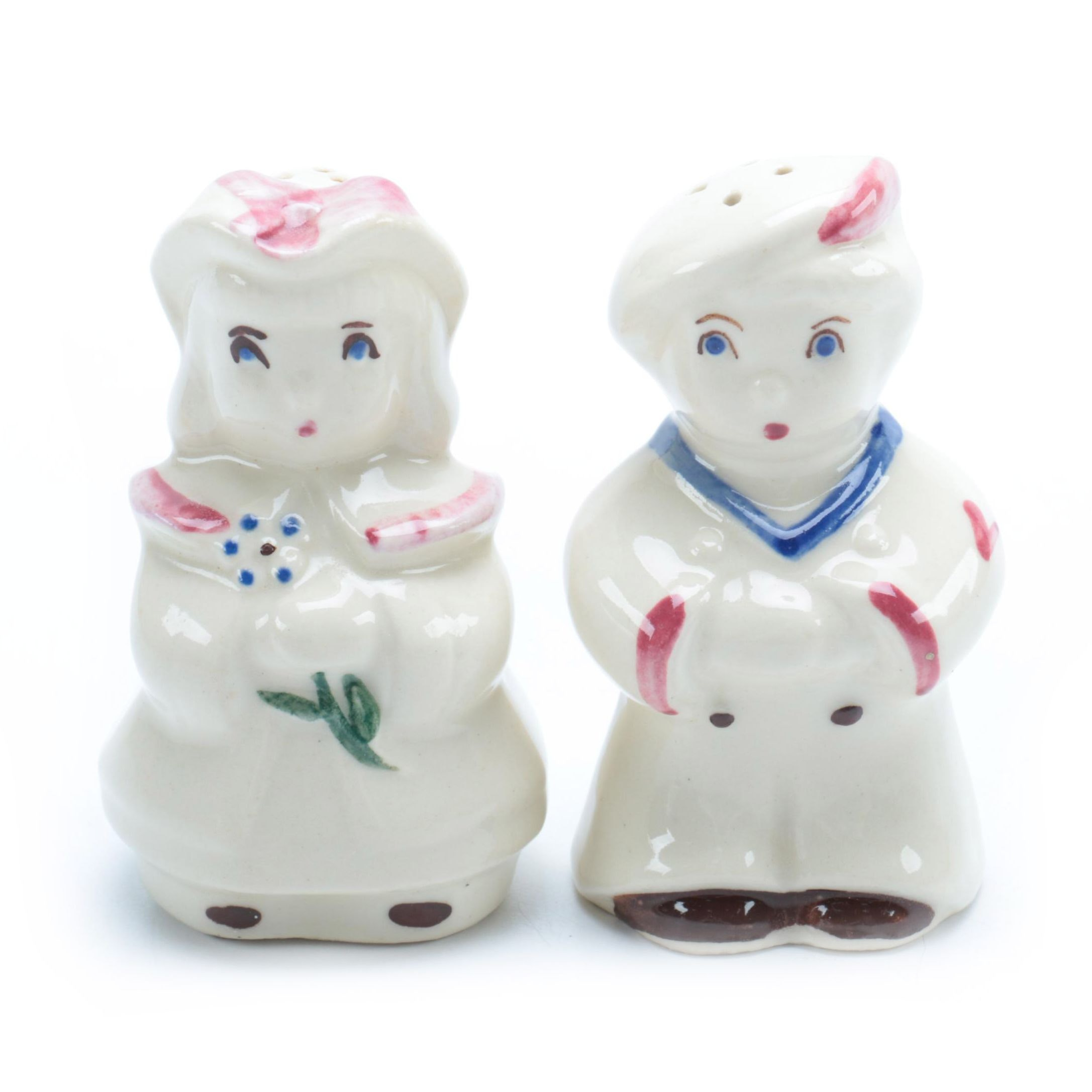Figural Salt and Pepper Shakers