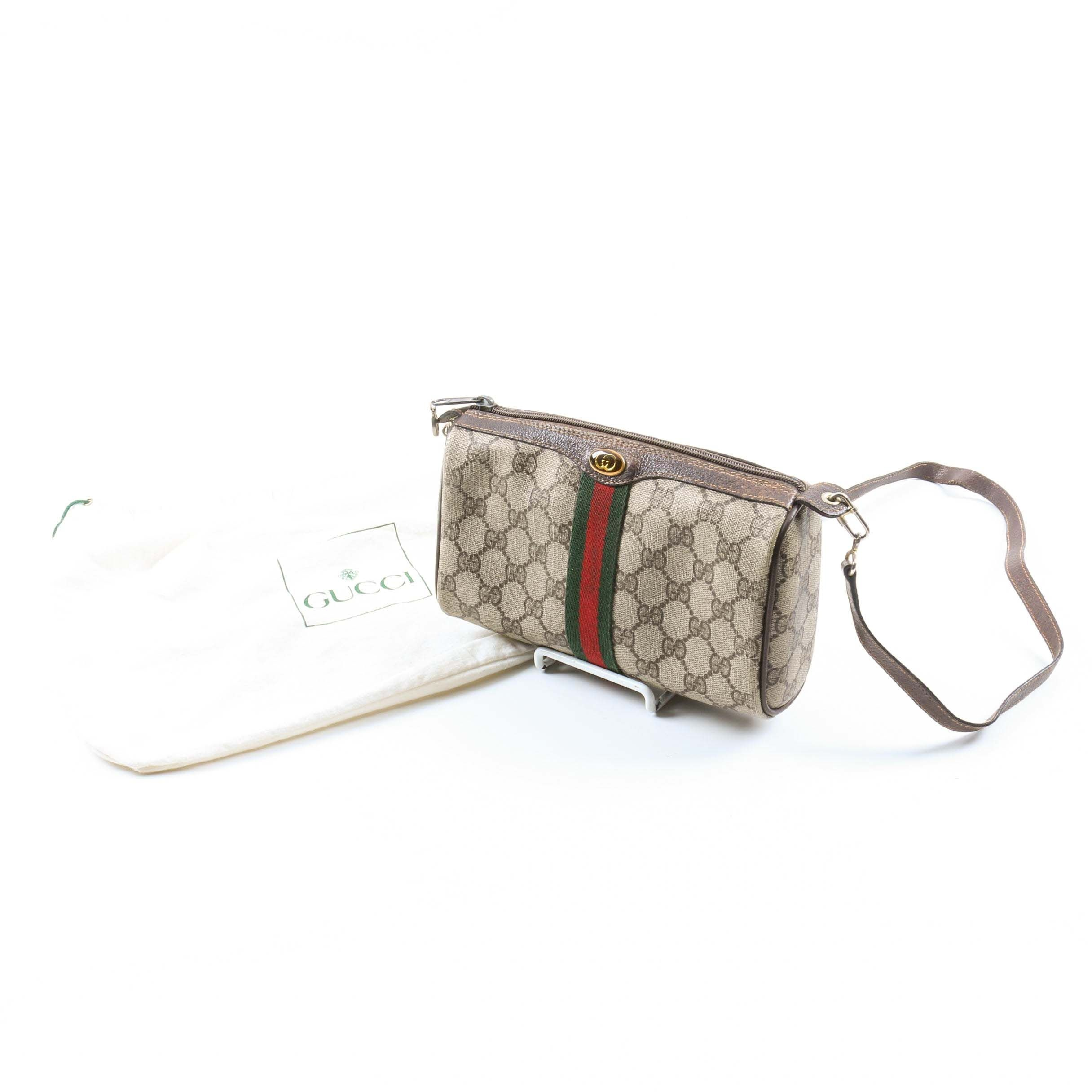 Vintage Gucci Signature Canvas Crossbody