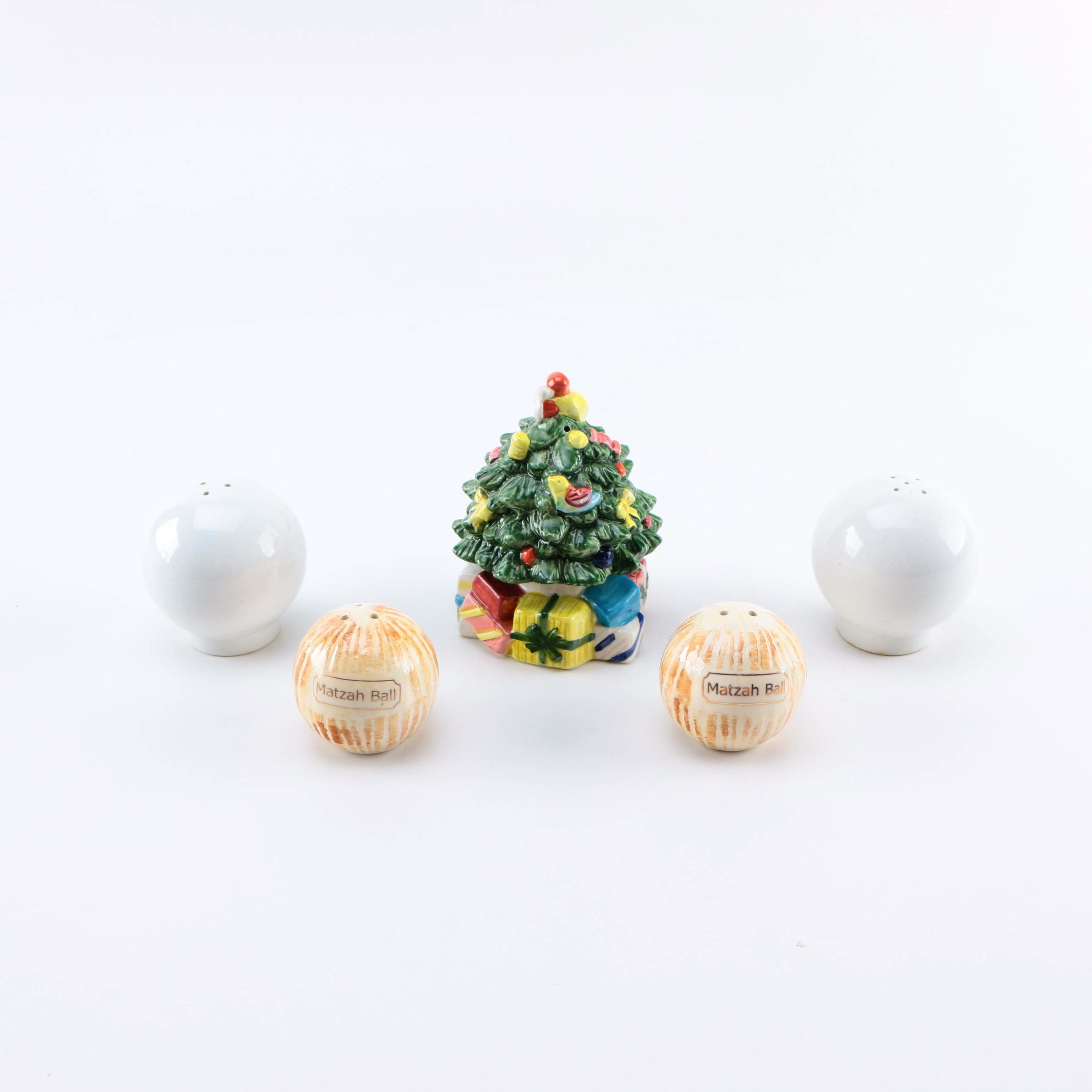 Assortment of Ceramic Salt and Pepper Shakers
