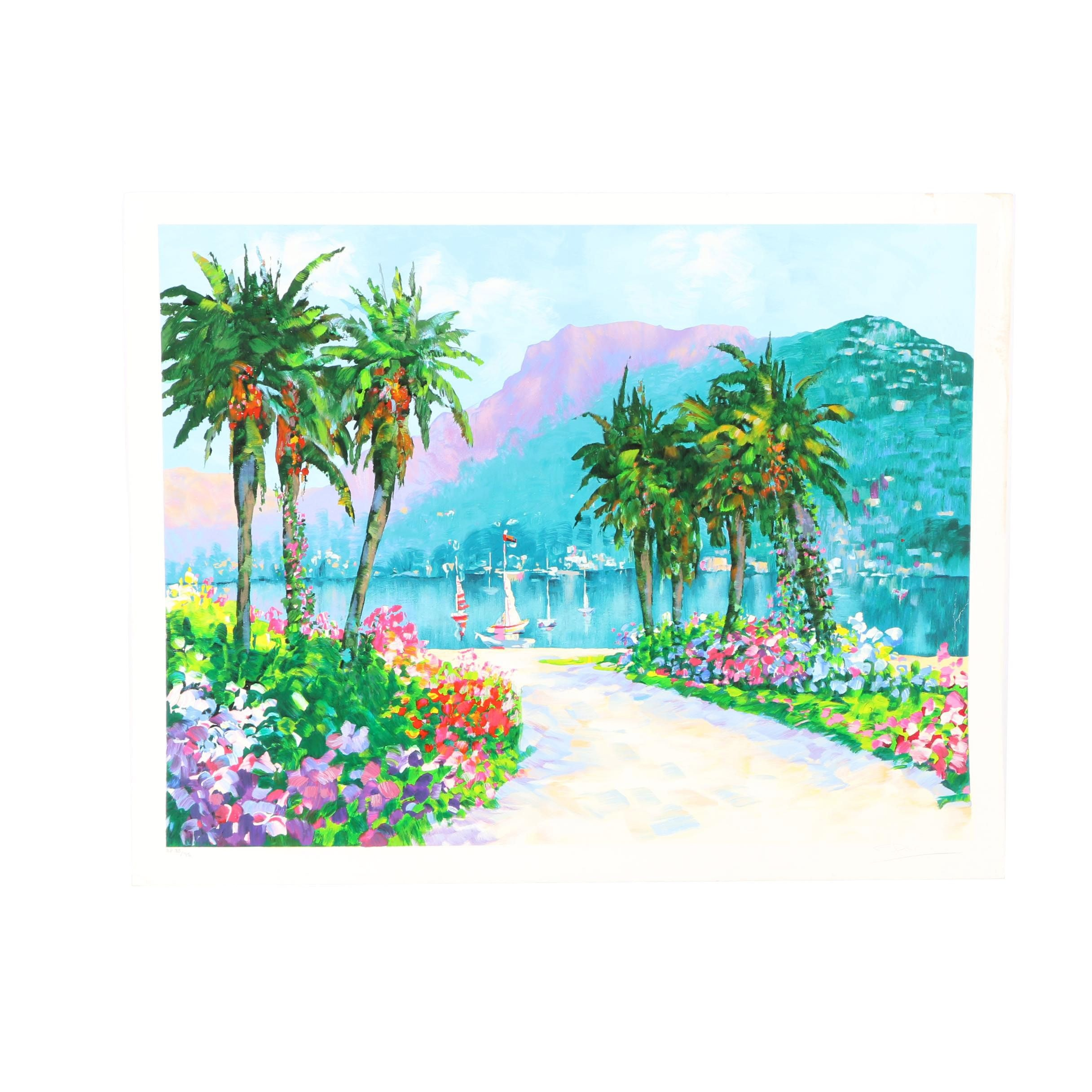 Limited Edition Serigraph of Sailboats
