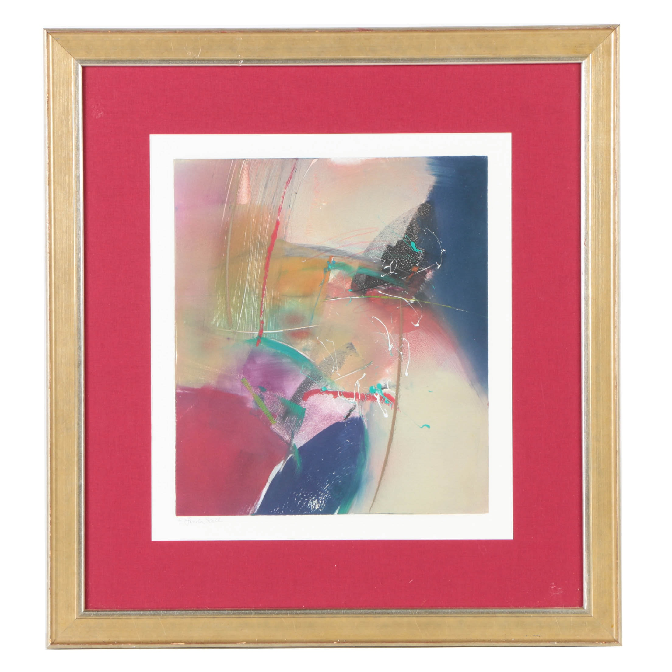 Linda Kall Limited Edition Monoprint of Abstract Composition