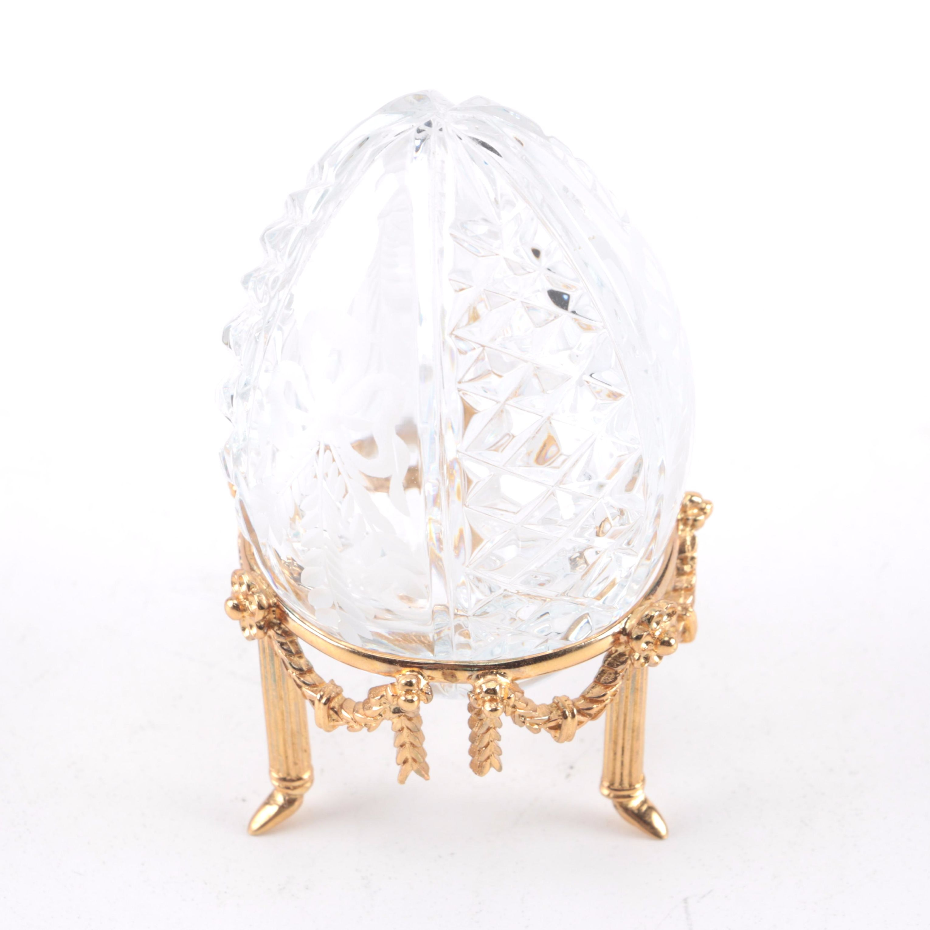 Fabergé Crystal Egg with Stand