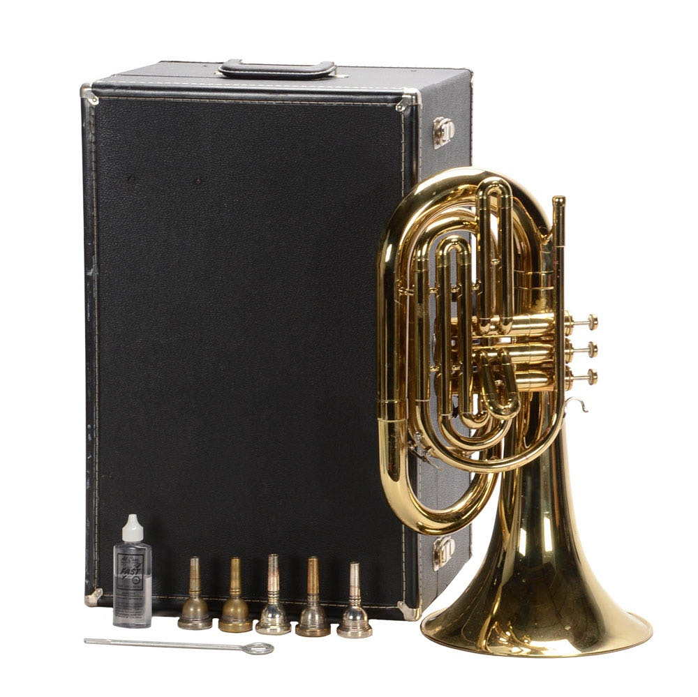 Vincent Bach Marching Baritone Horn With Hard Case