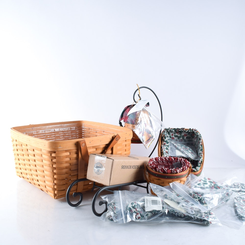 Assortment of Hand Woven Longaberger Baskets