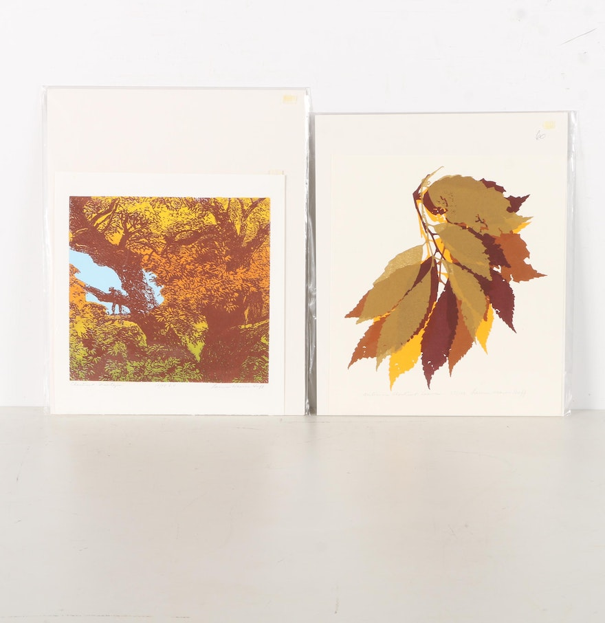 Laura Weaver Huff Limited Edition Serigraphs Chestnut Treetops And Autumn