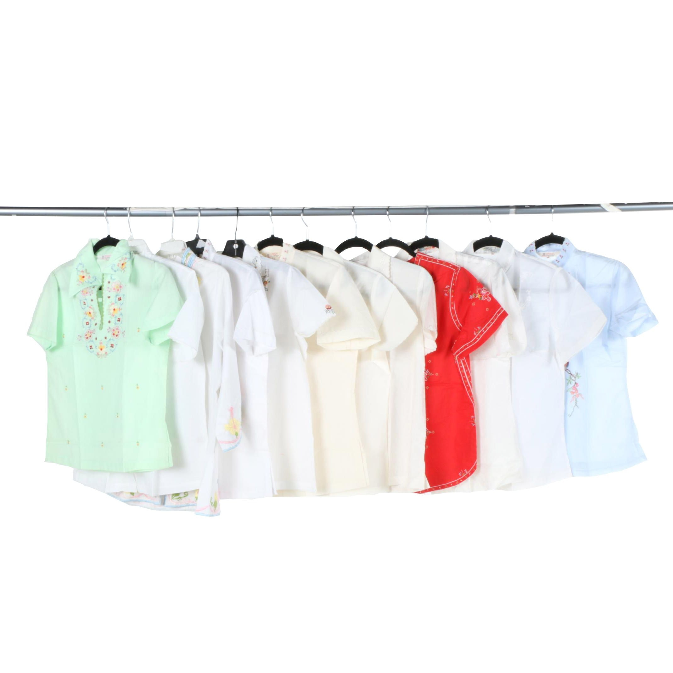 Silk and Cotton Southeast Asian Style Shirts