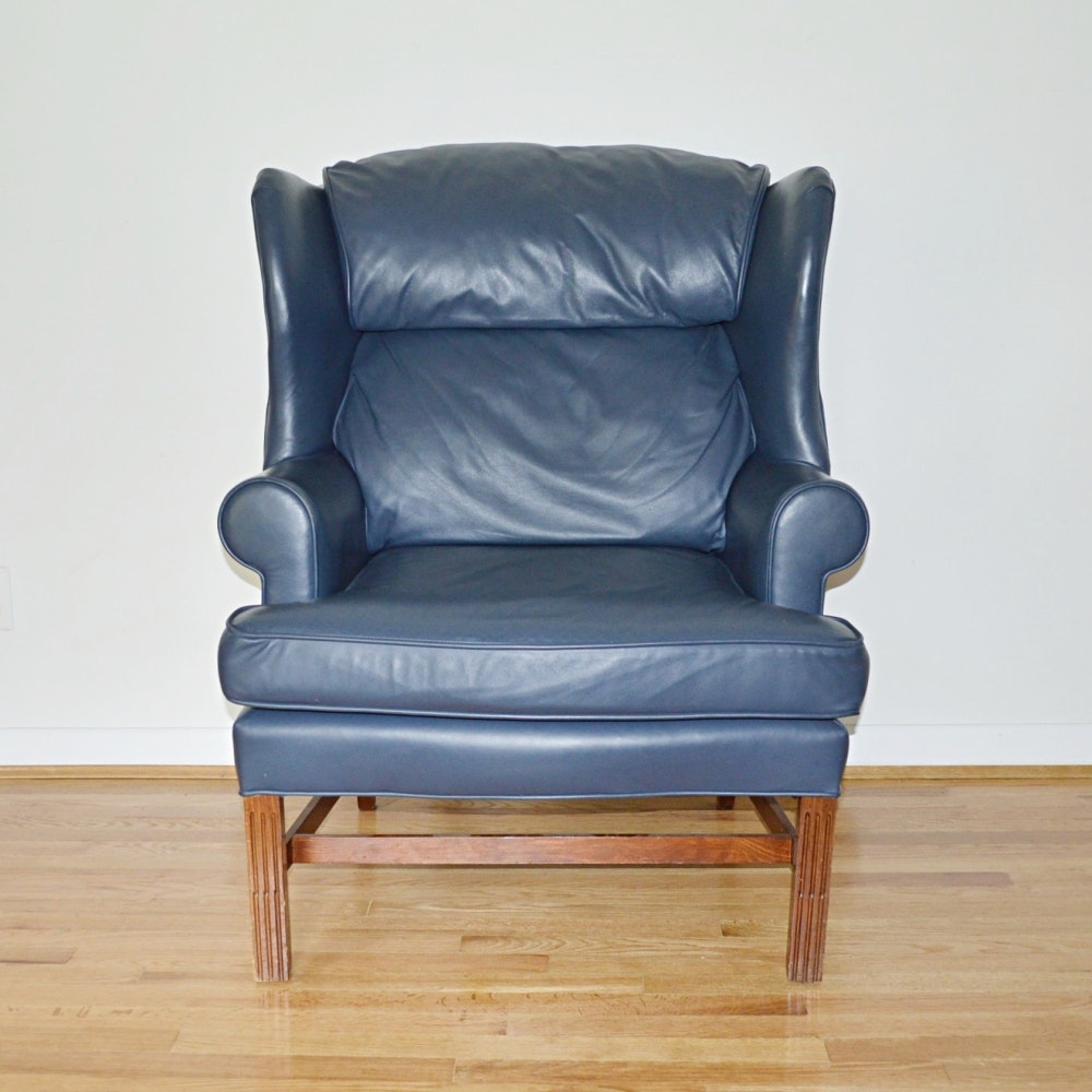 Leather Wingback Chair By Fairfield ...