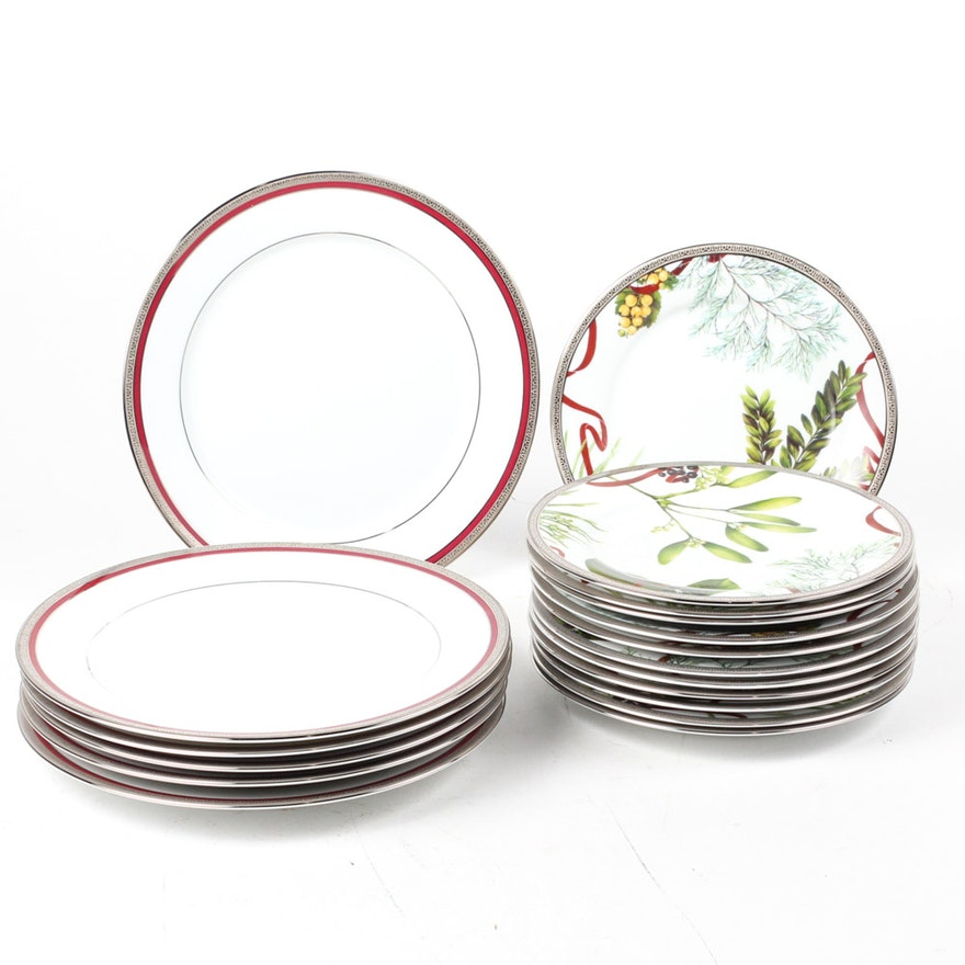 Amazing Charter Club Grand Buffet Platinum Christmas Plates Ebth Home Interior And Landscaping Sapresignezvosmurscom
