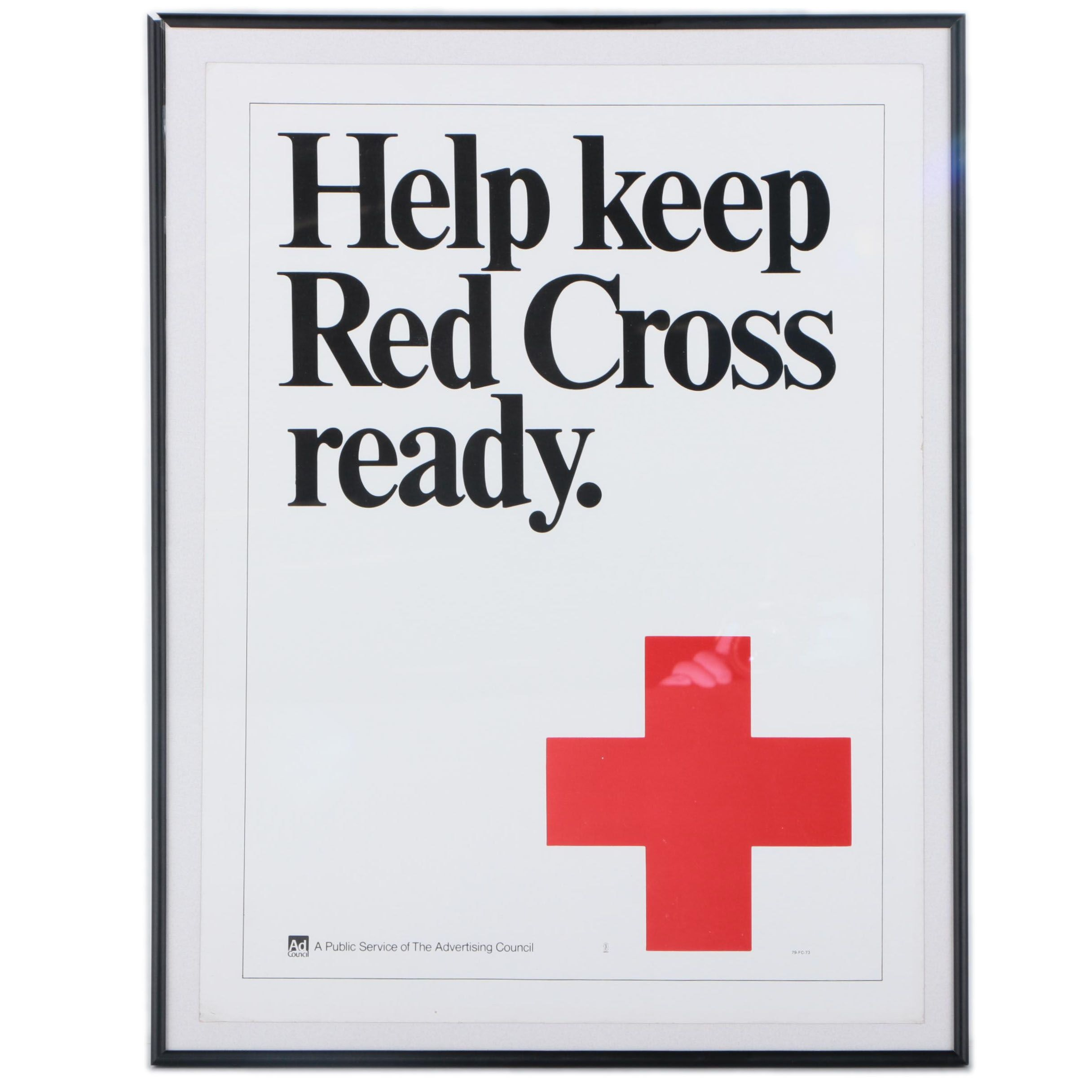 Poster Advertisement for American Red Cross
