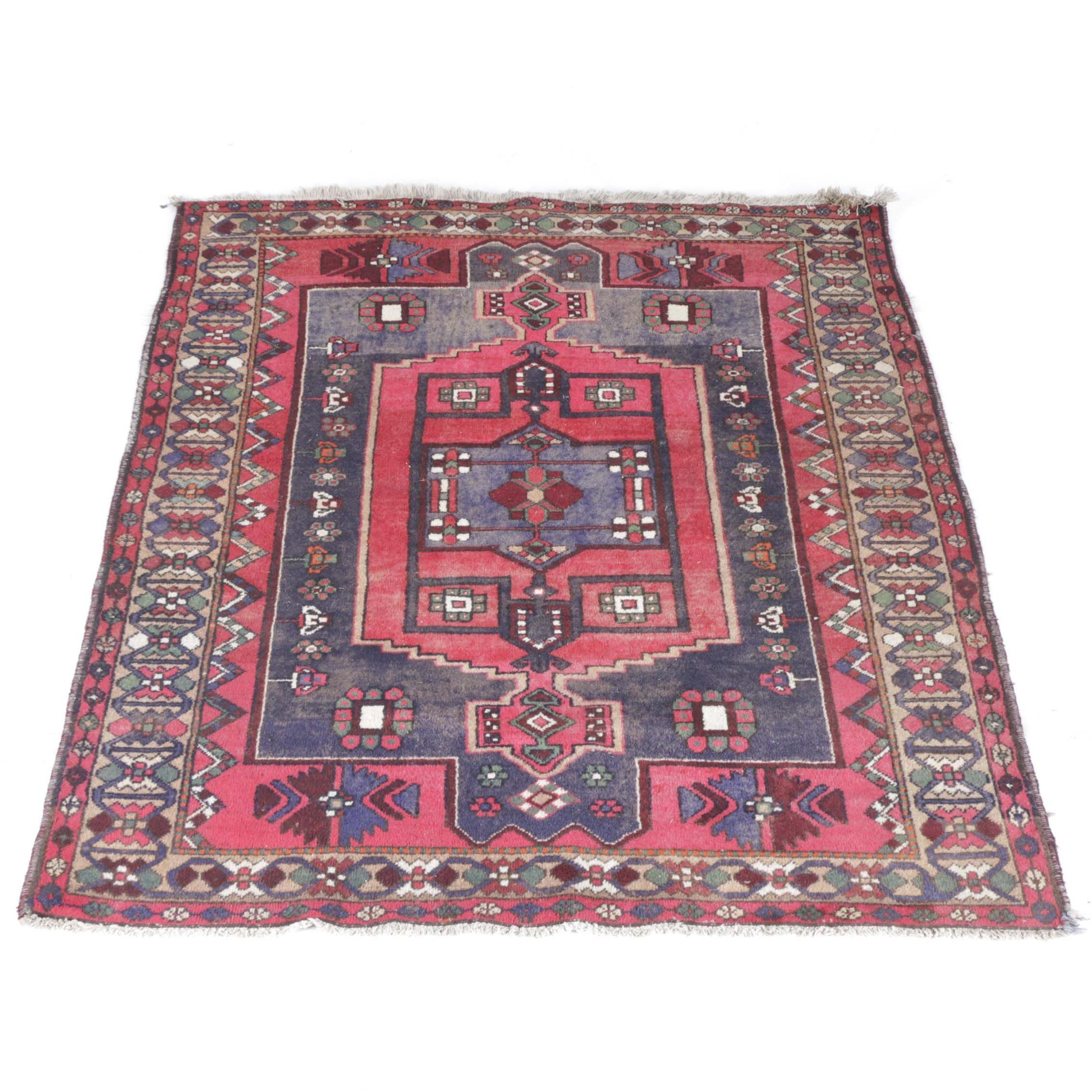 Hand-Knotted Armenian Karabagh Wool Area Rug
