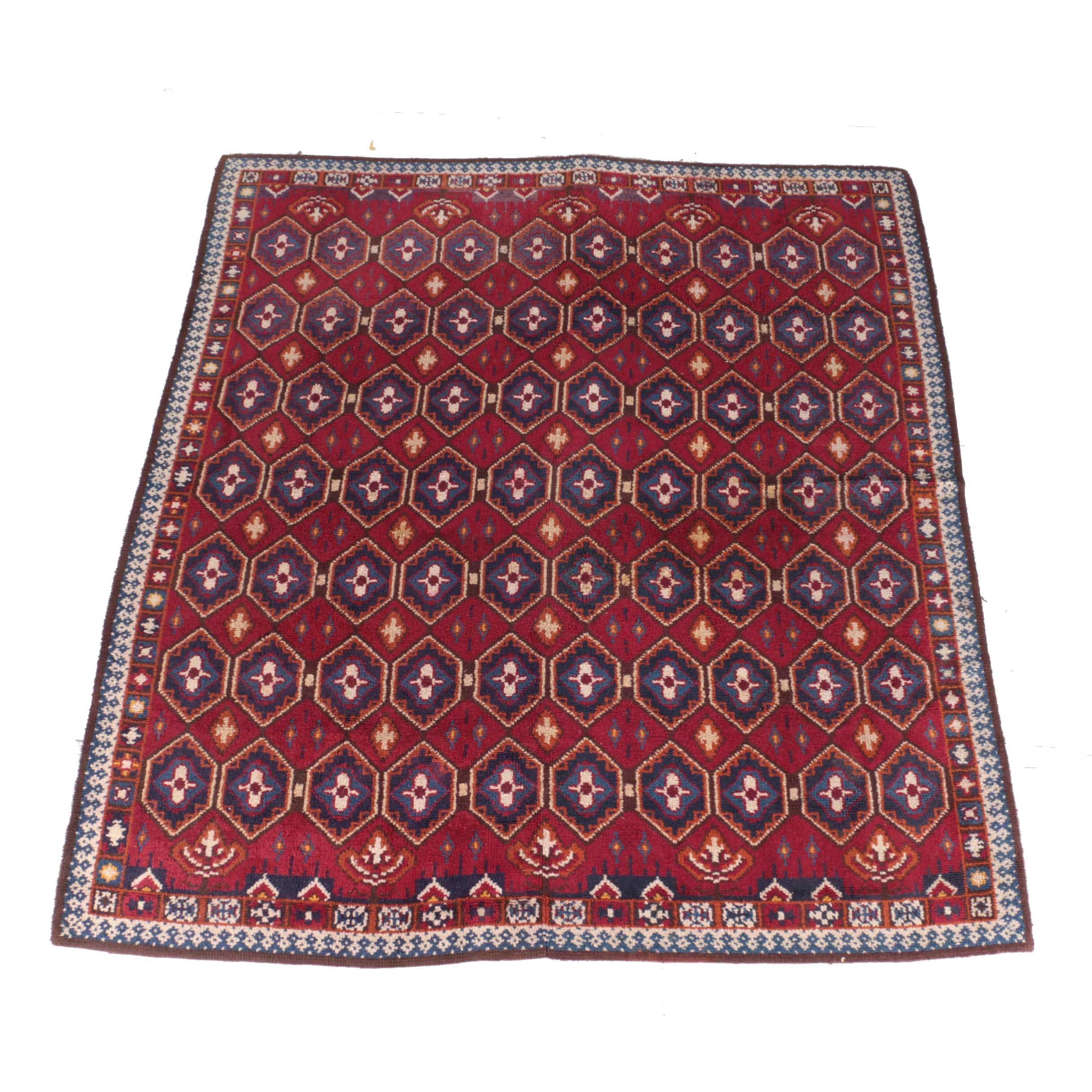 Hooked Turkish Style Area Rug
