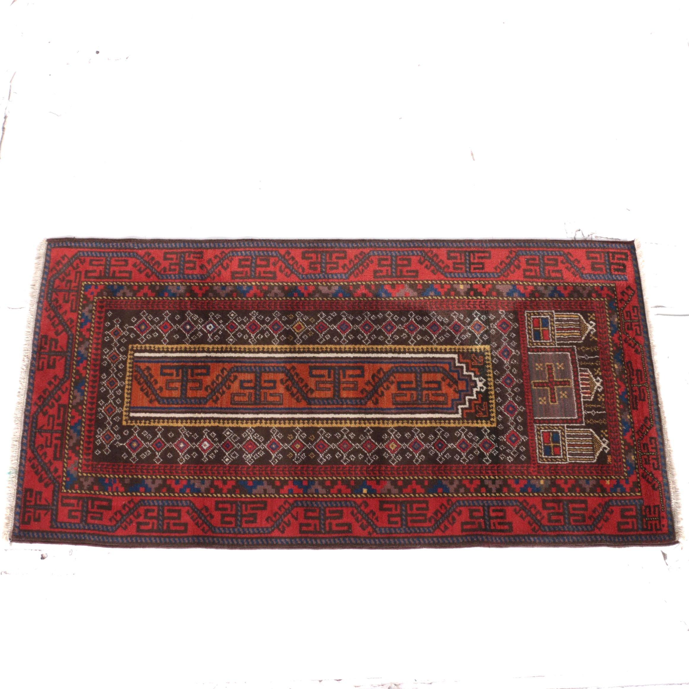 Power Loomed Baluch or Yomut Prayer Rug