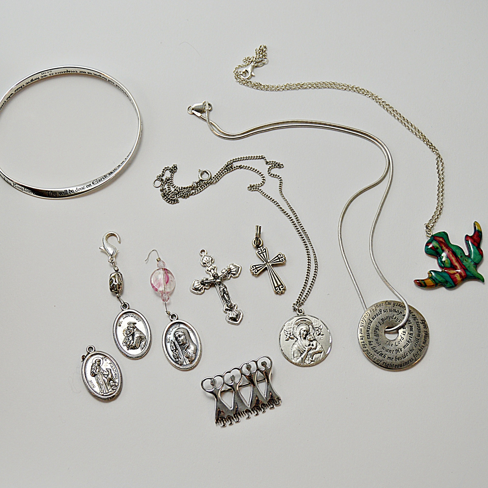 Religious Jewelry with Sterling Silver