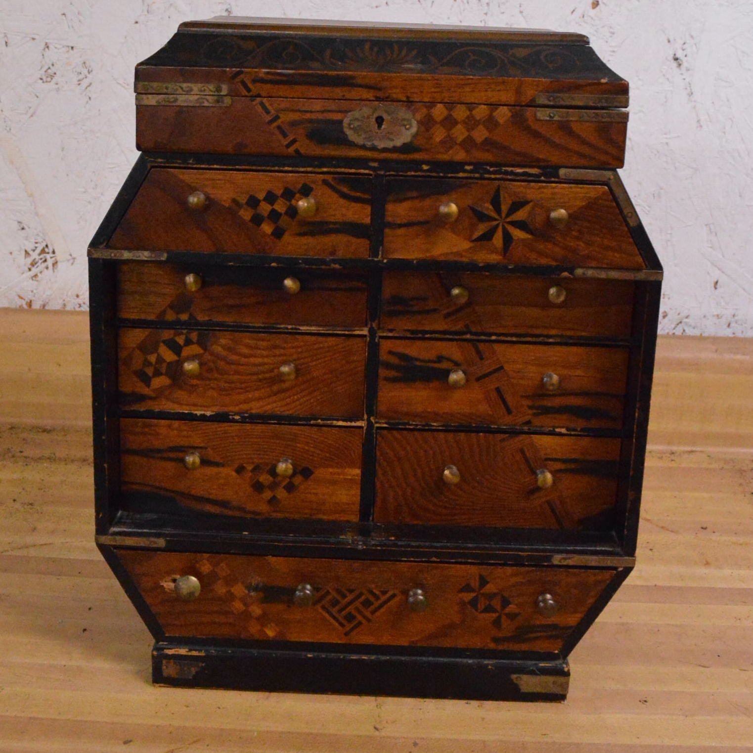 Asian Inspired Apothecary Style Cabinet