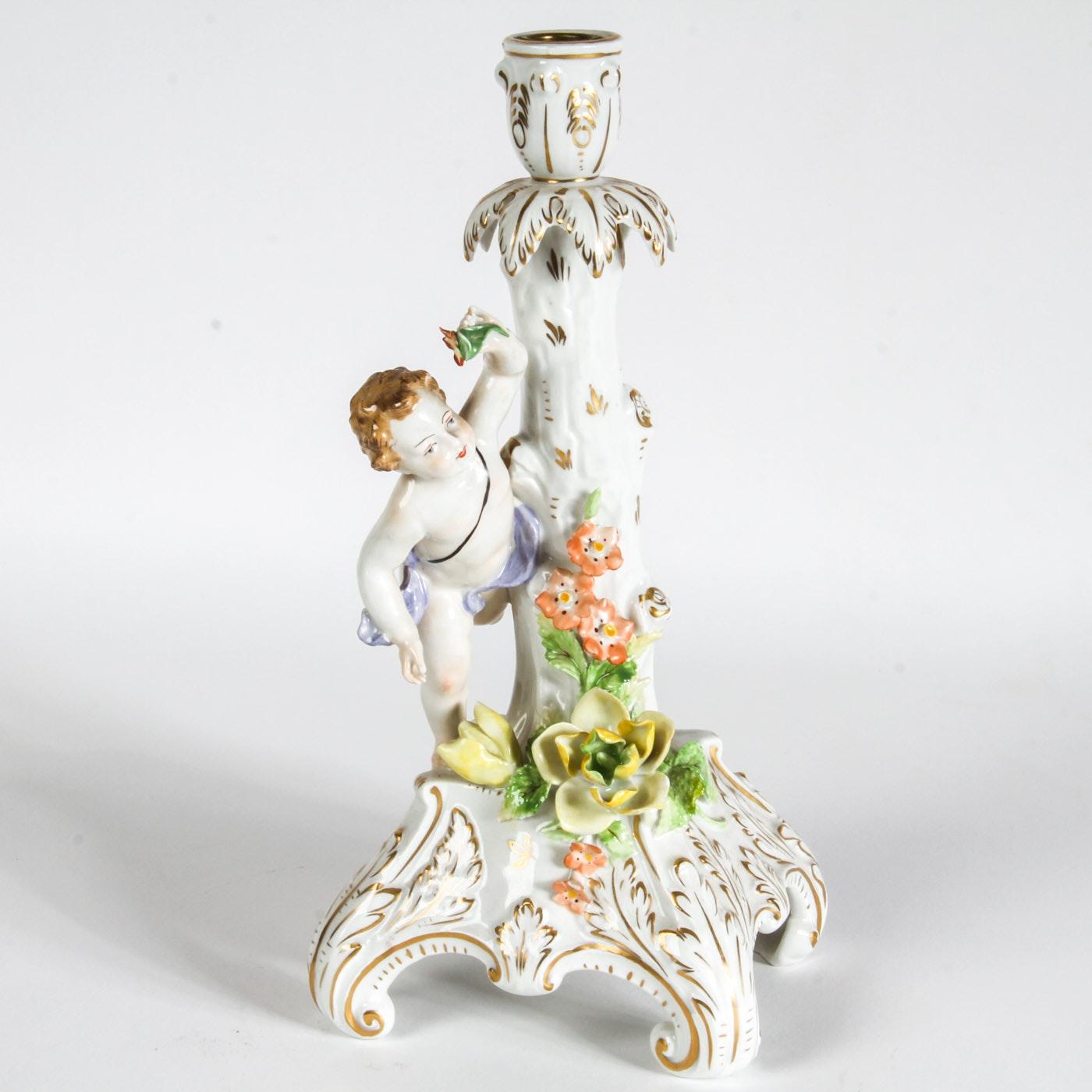 Dresden Porcelain Candle Holder