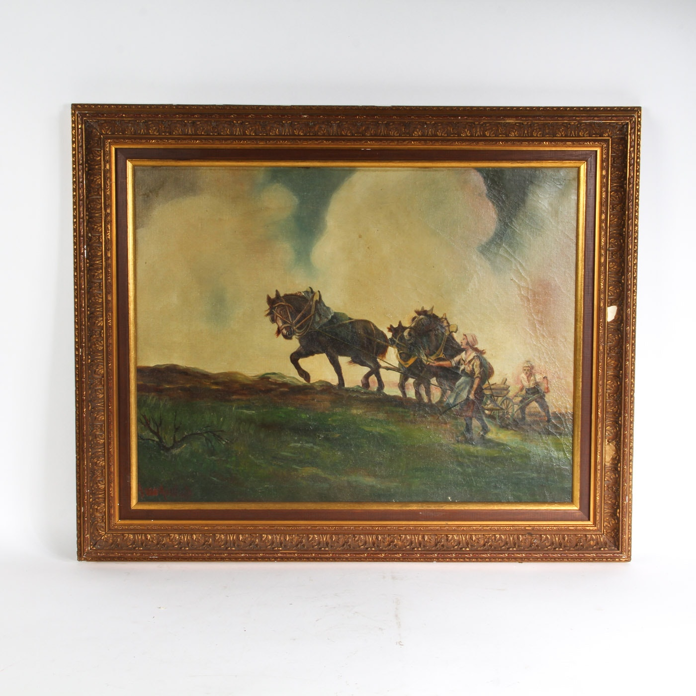 Vintage Oil Painting on Canvas