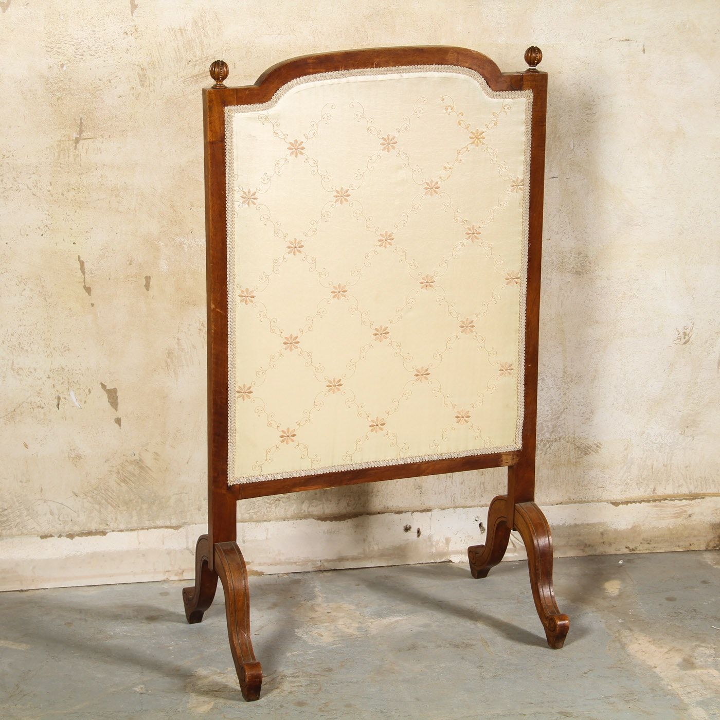 Vintage Hand Carved Fireplace Screen