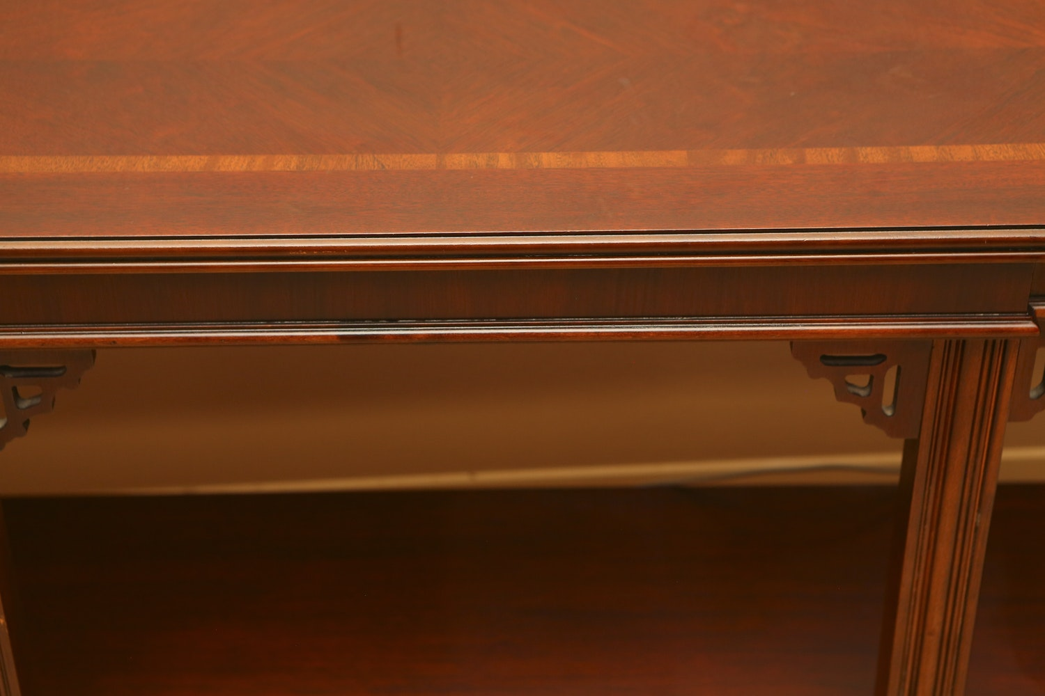 Vintage Mahogany Console Table By Lane Furniture Ebth