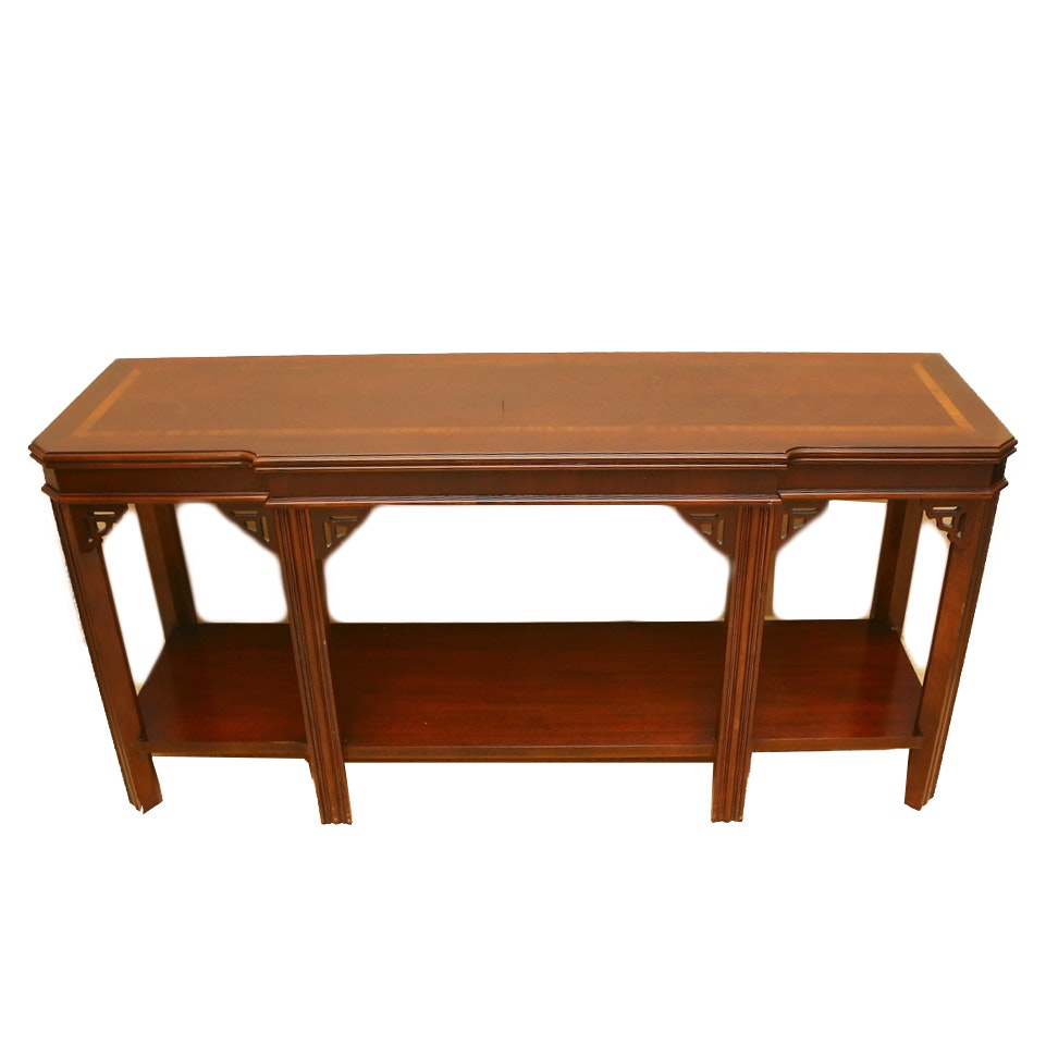 Vintage mahogany console table by lane furniture ebth for 10 inch sofa table