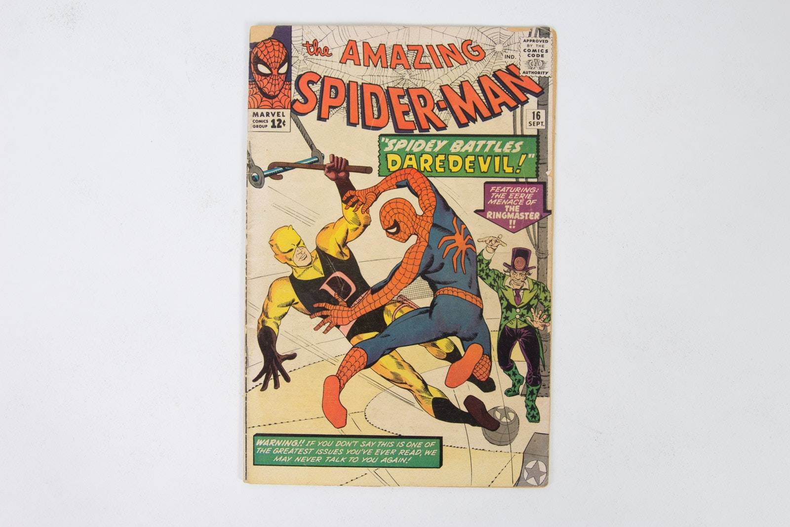 "Marvel ""The Amazing Spiderman"" Issue 16 Vintage Comic Book"