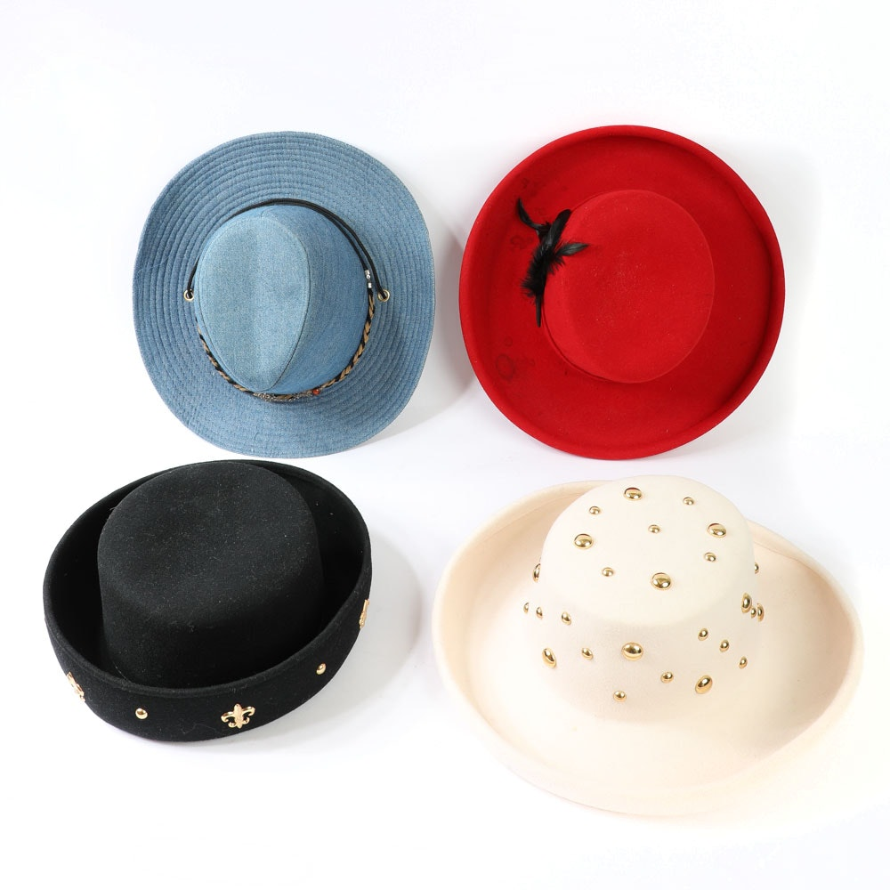 Vintage Doeskin Felt Wool Hats by Bollman Hat Co.