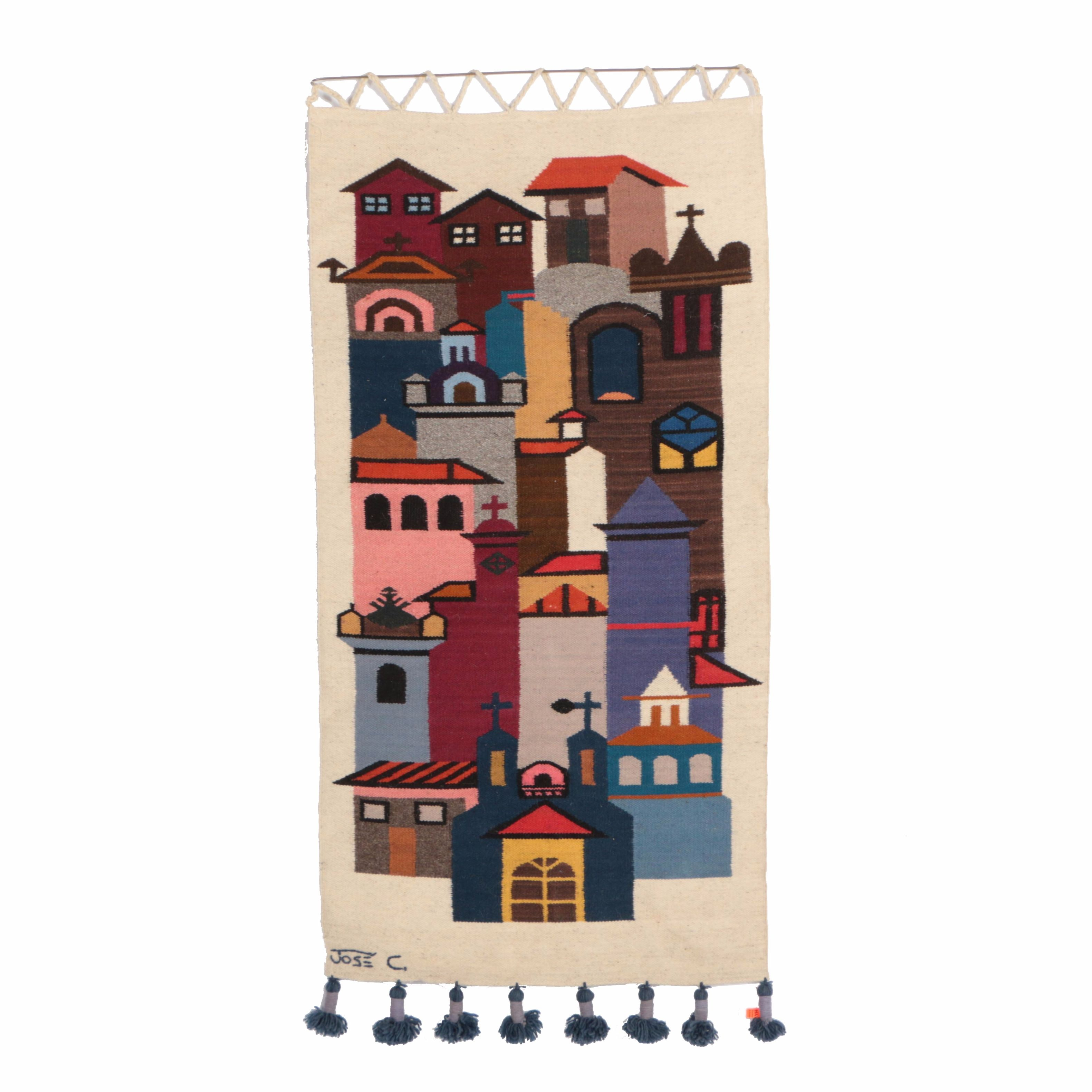 José Cotacachi Tapestry of a Cityscape