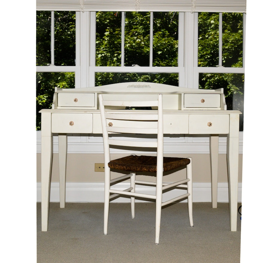 Awe Inspiring Pottery Barn Kids White Painted Desk With Chair Inzonedesignstudio Interior Chair Design Inzonedesignstudiocom