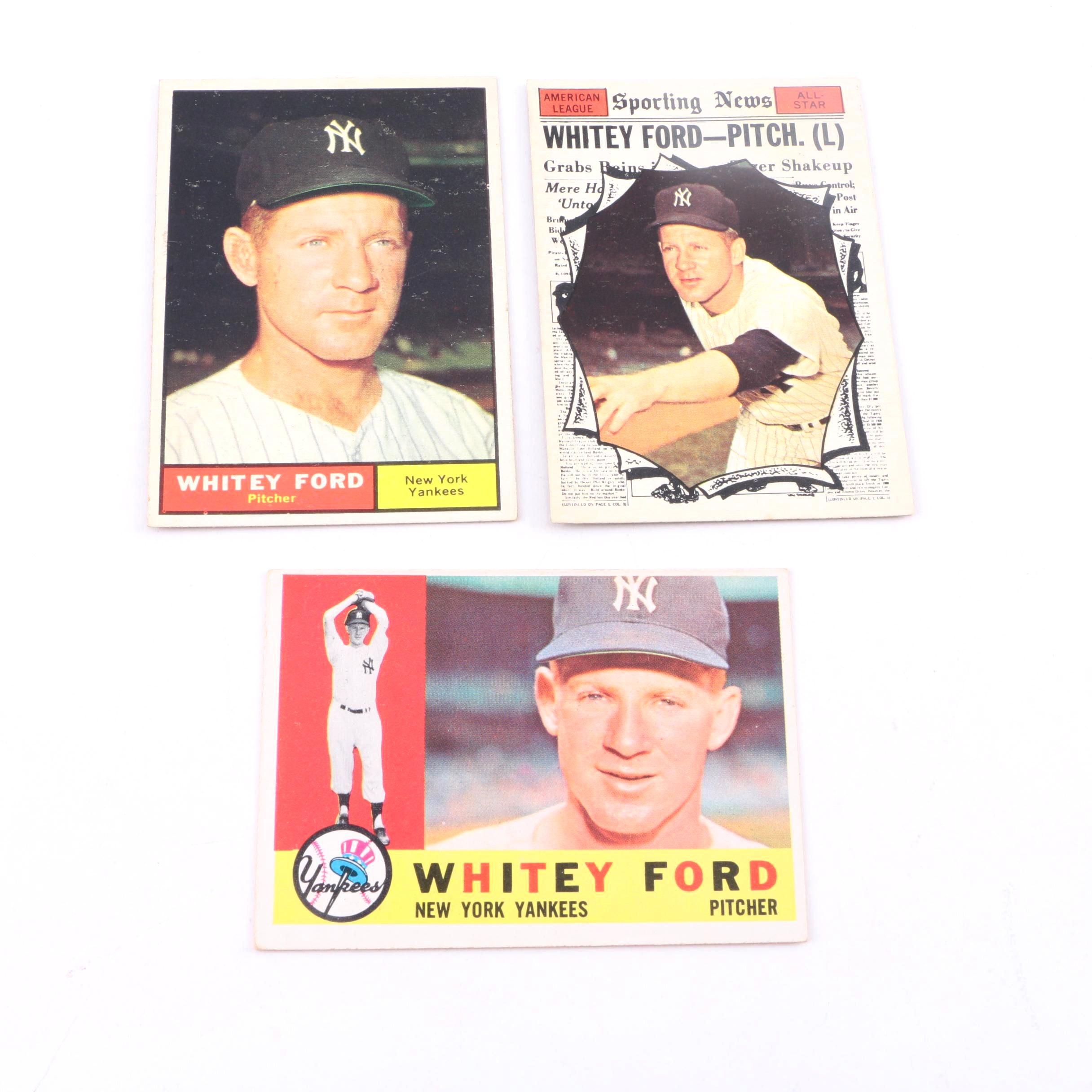 Collection of Whitey Ford Cards