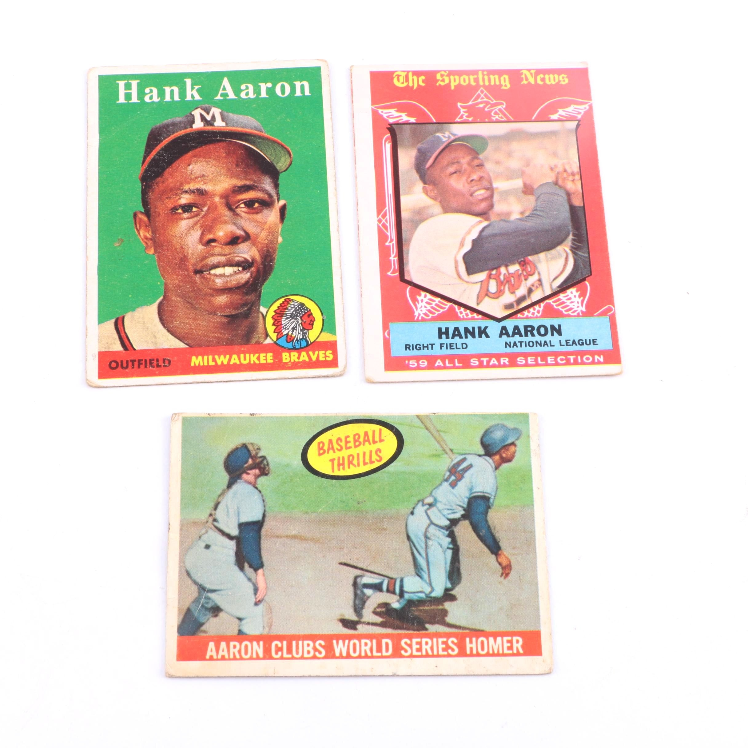Vintage Topps Hank Aaron Cards
