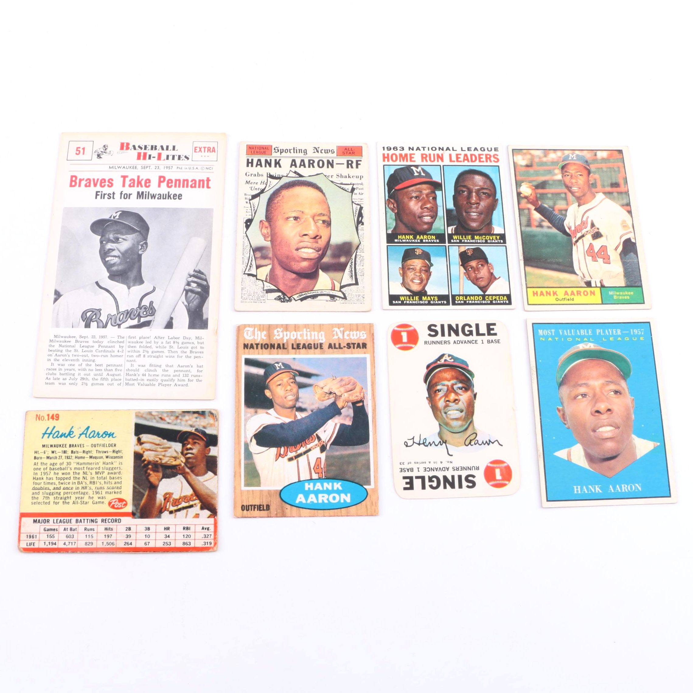 Collection of 1960s Hank Aaron Cards