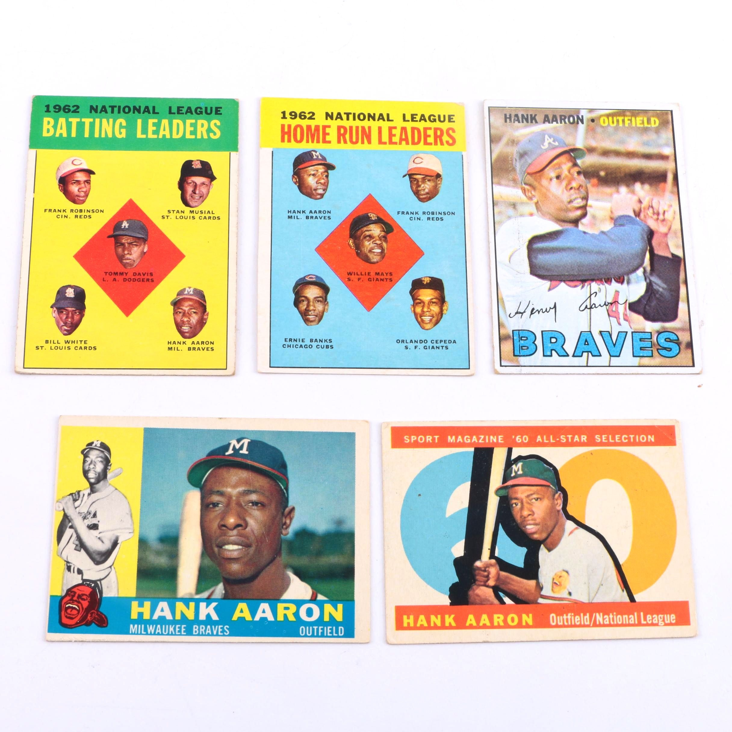 Collection of 1960s Topps Hank Aaron Cards