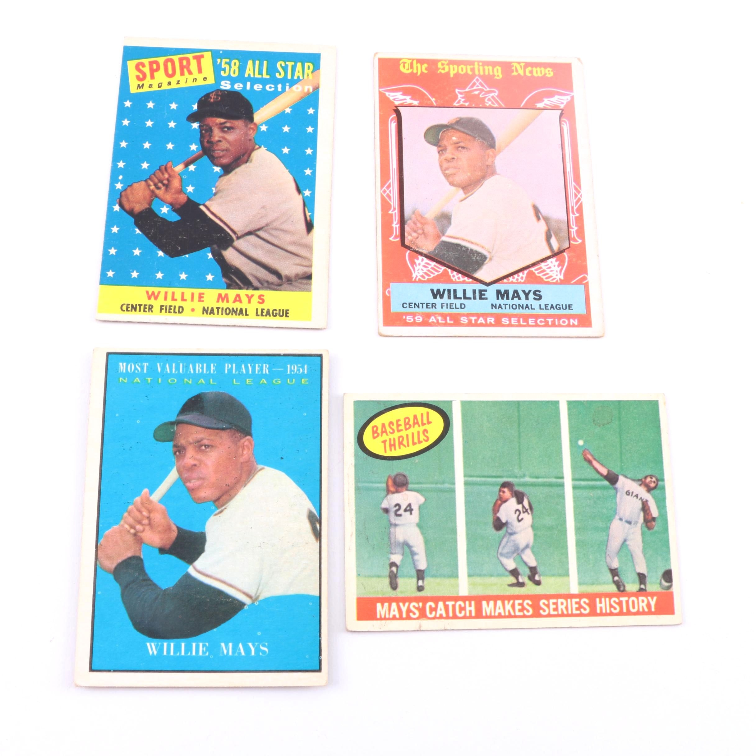Collection of Willie Mays Cards