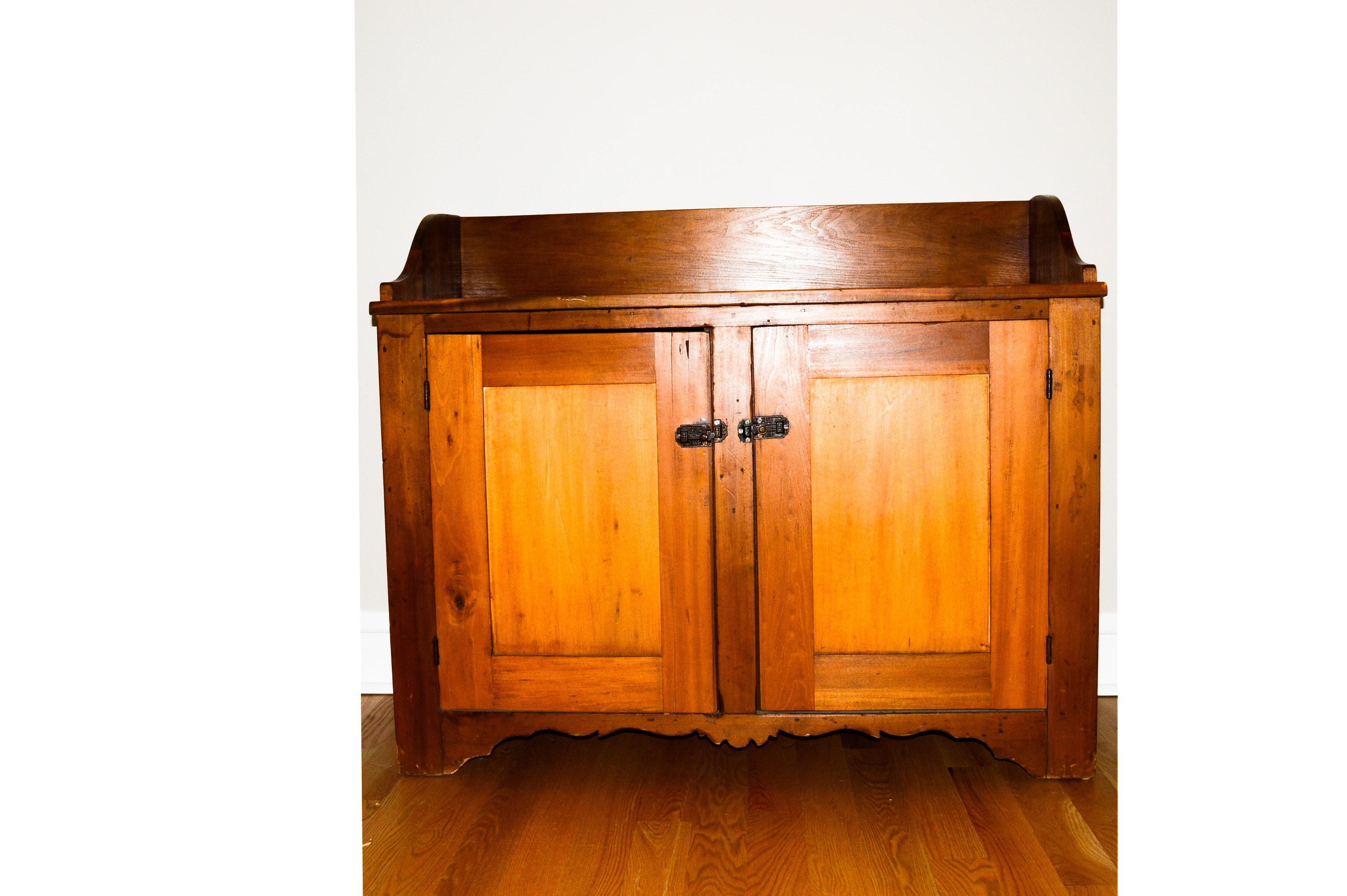 Vintage Poplar Dry Sink