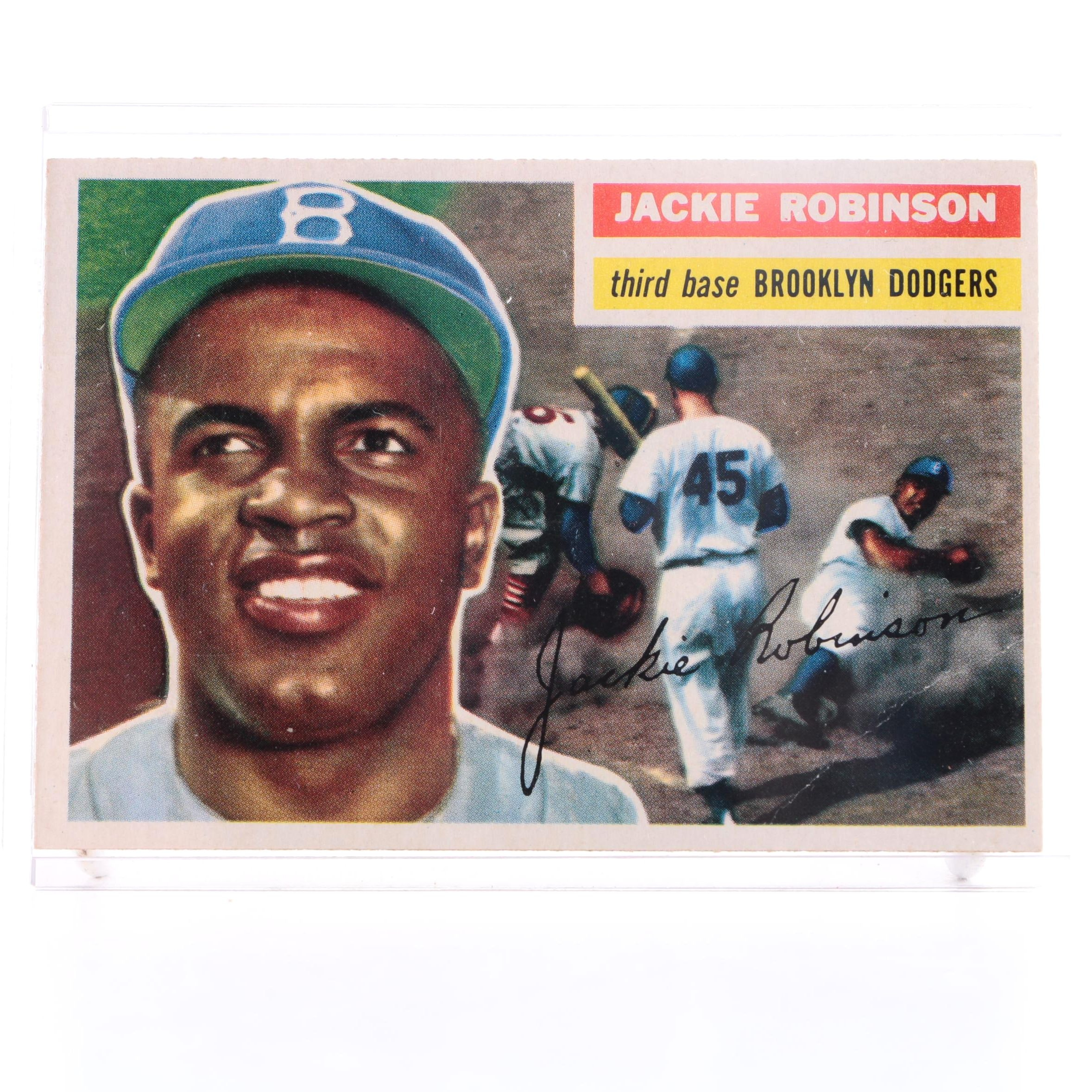 1956 Topps Jackie Robinson Card #30