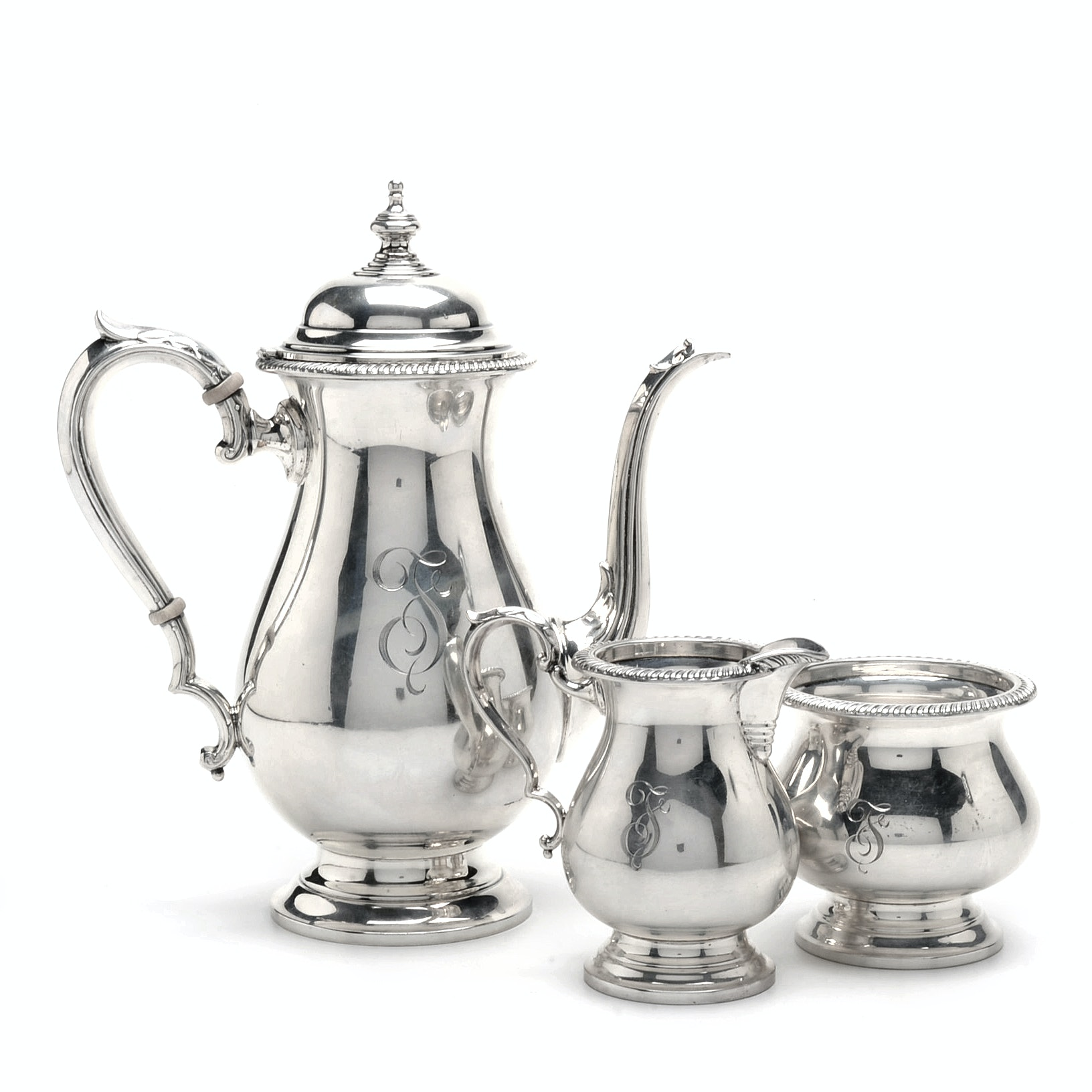 """Kent"" Sterling Silver Hollowware by Fisher Silversmiths"