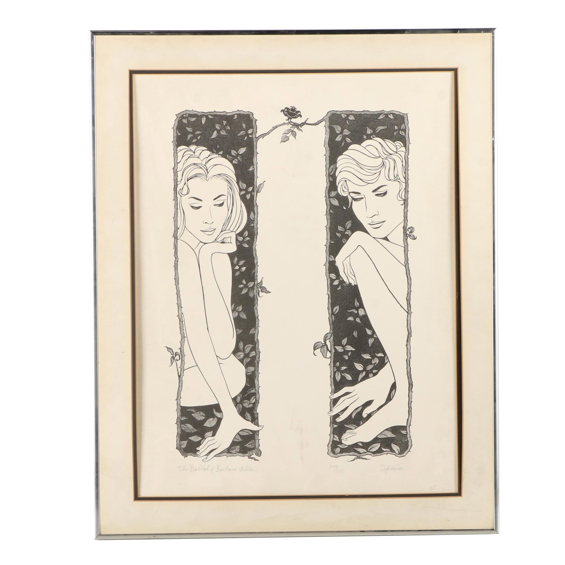 """Spencer Limited Edition Lithograph """"The Ballad of Barbara Allen"""""""