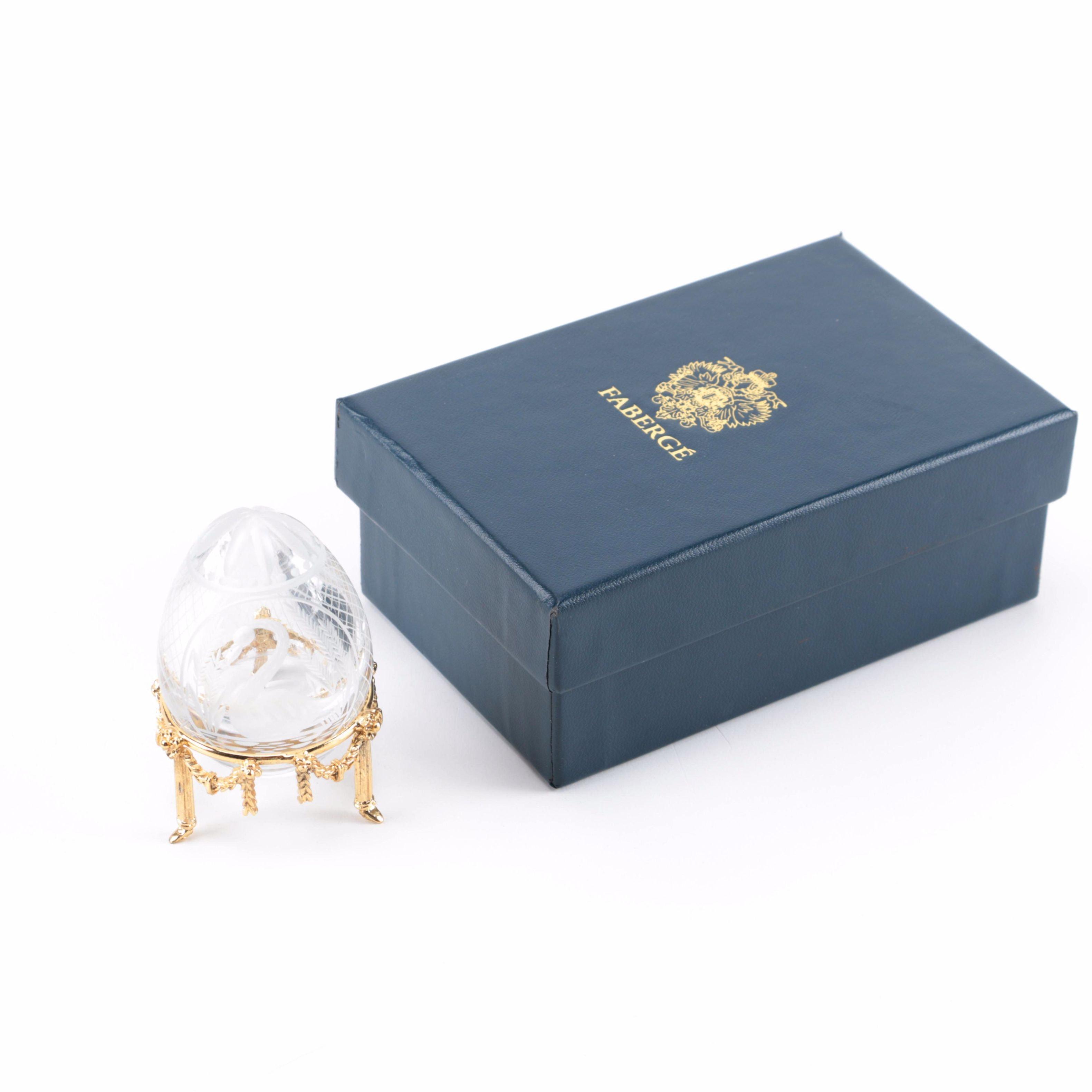 "Fabergé ""Swan"" Crystal Egg"