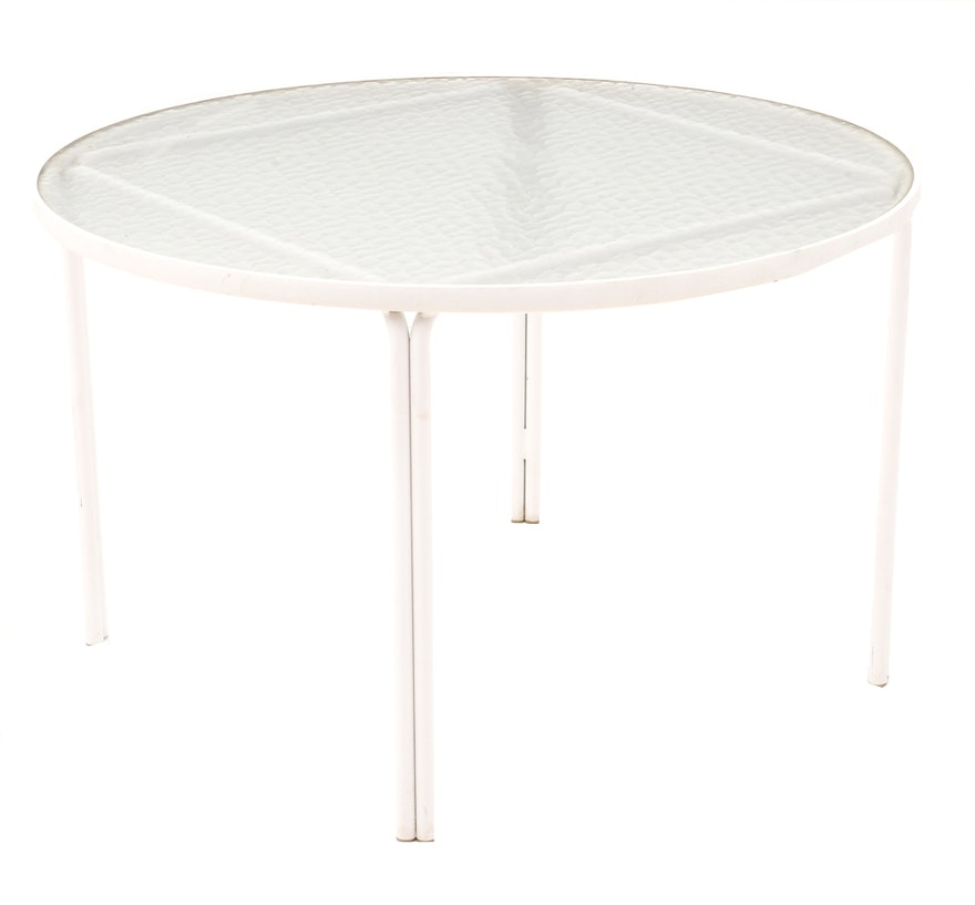 Circular glass top patio dining table with accent table ebth for 12 x 12 accent table