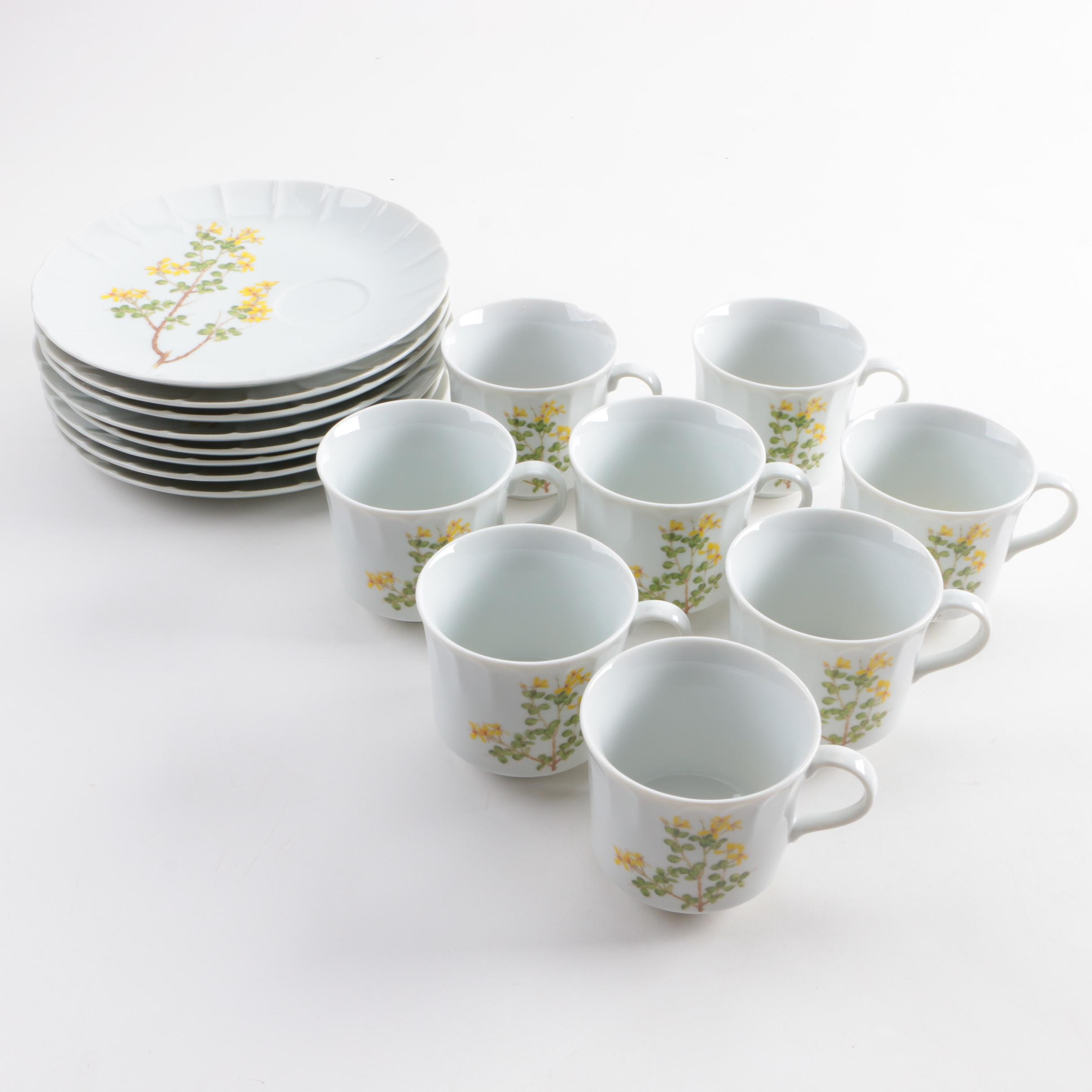 Japanese Produced Toscany \ Yorktown\  Snack Plate and Cup Sets ... & Japanese Produced Toscany \