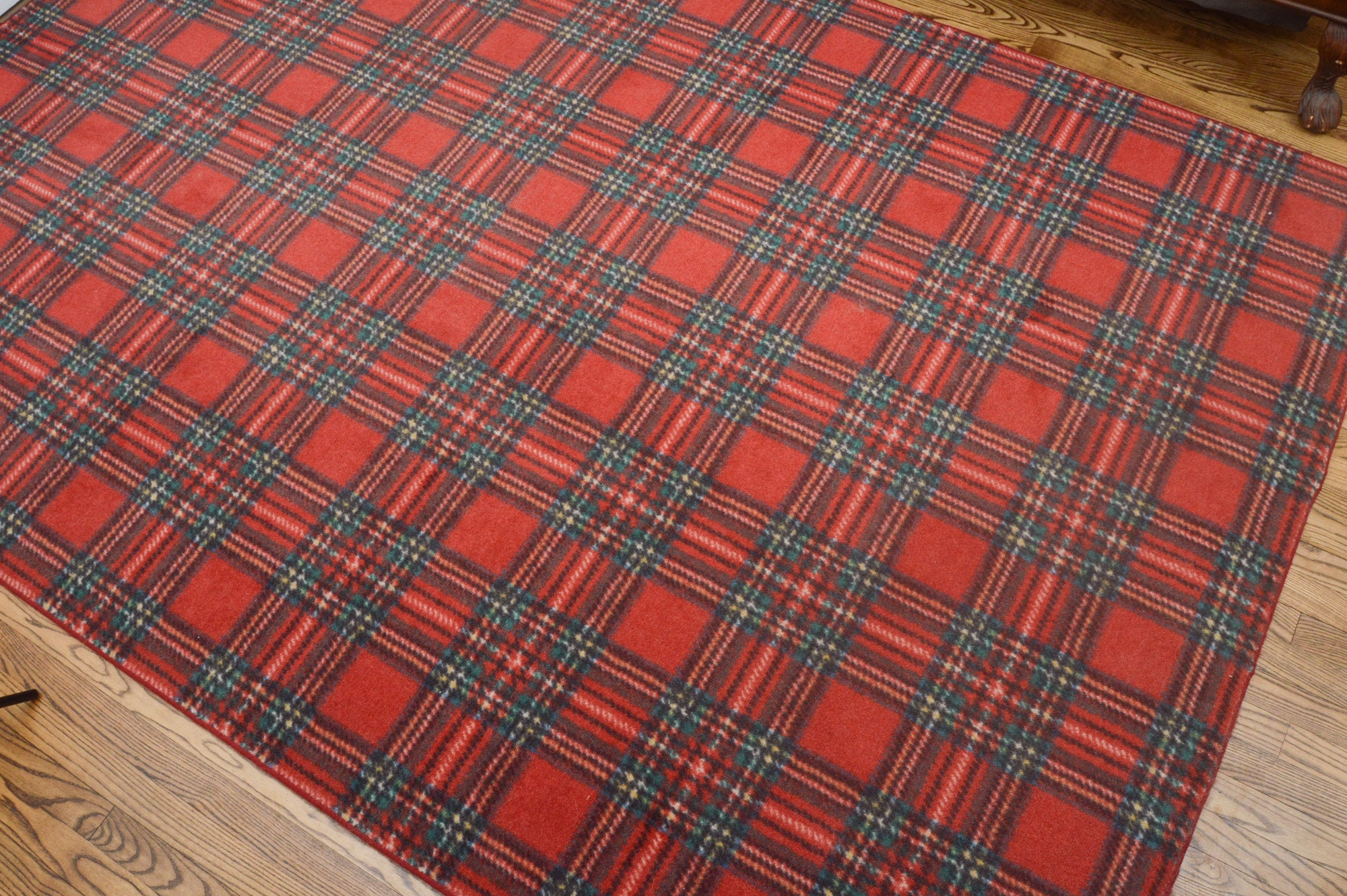 Power Loomed Tartan Plaid Area Rug