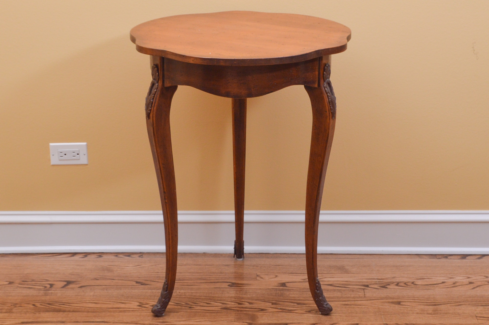 Vintage Fruitwood Lamp Table With Ormolu Mounts