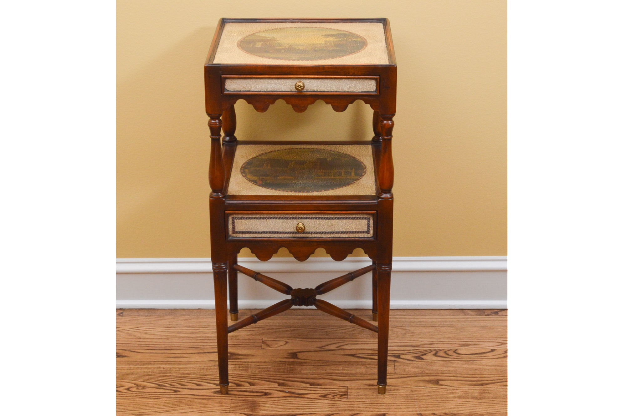 Mahogany Two-Tiered Side Table