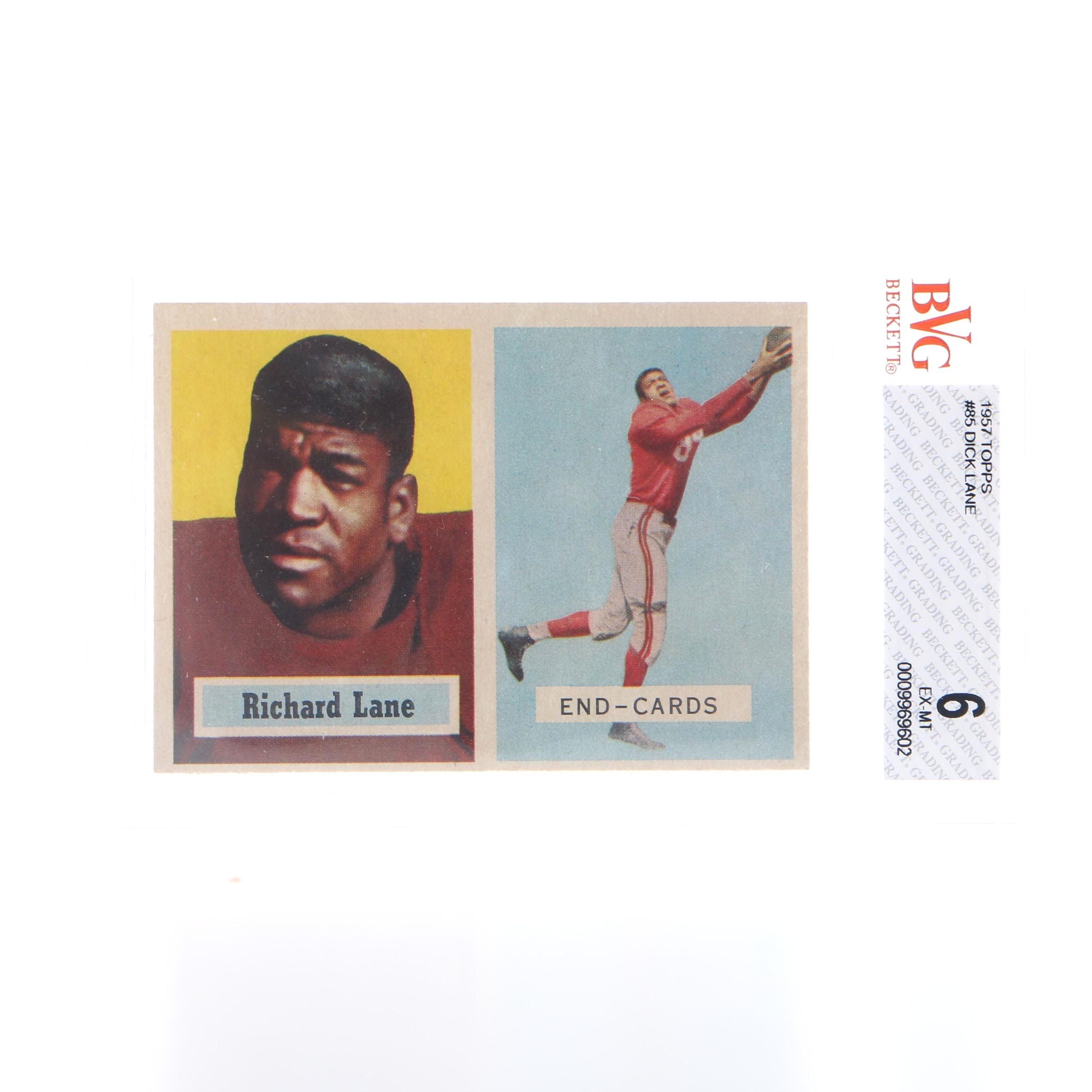 1957 Topps Graded Dick Lane Card