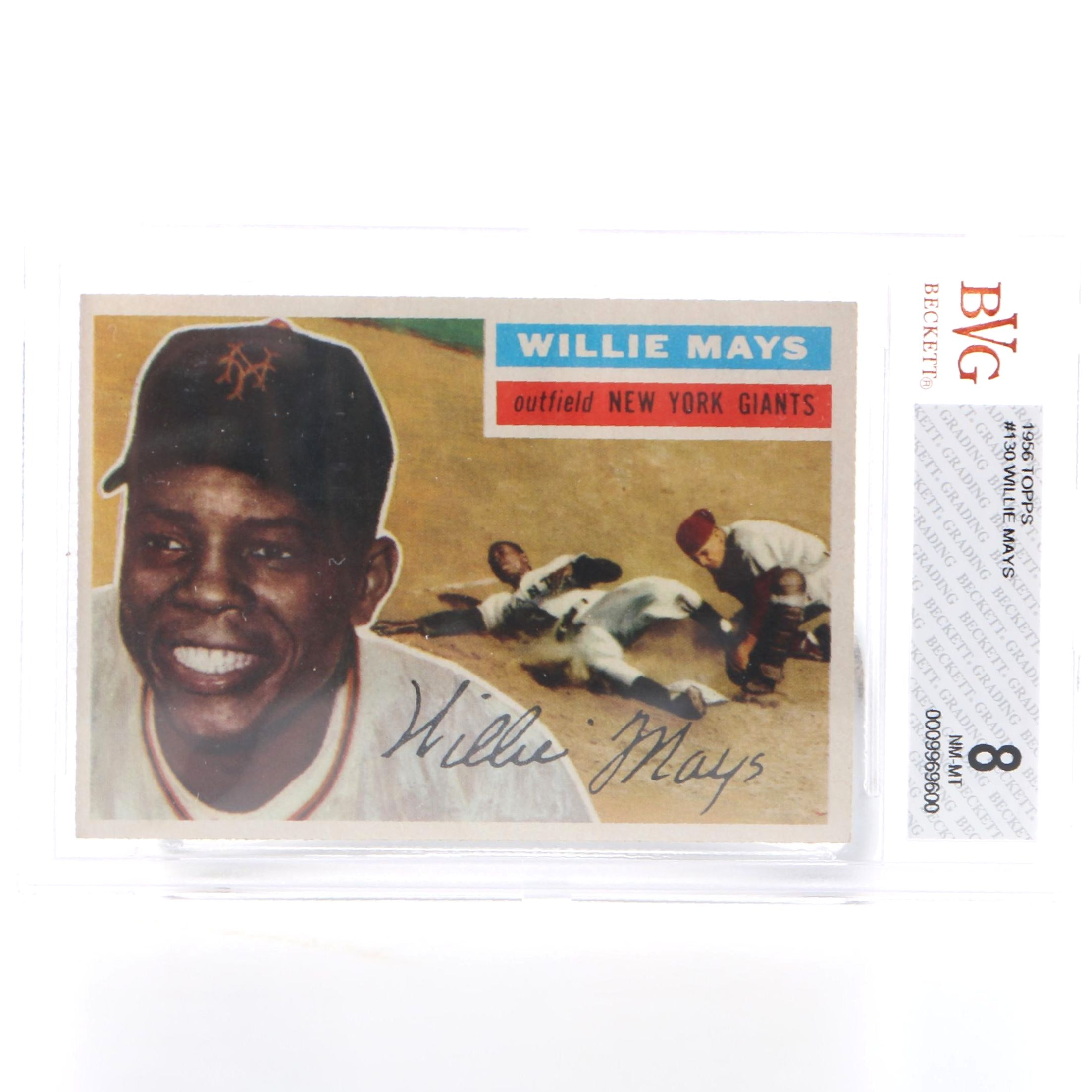 1956 Topps Willie Mays Card
