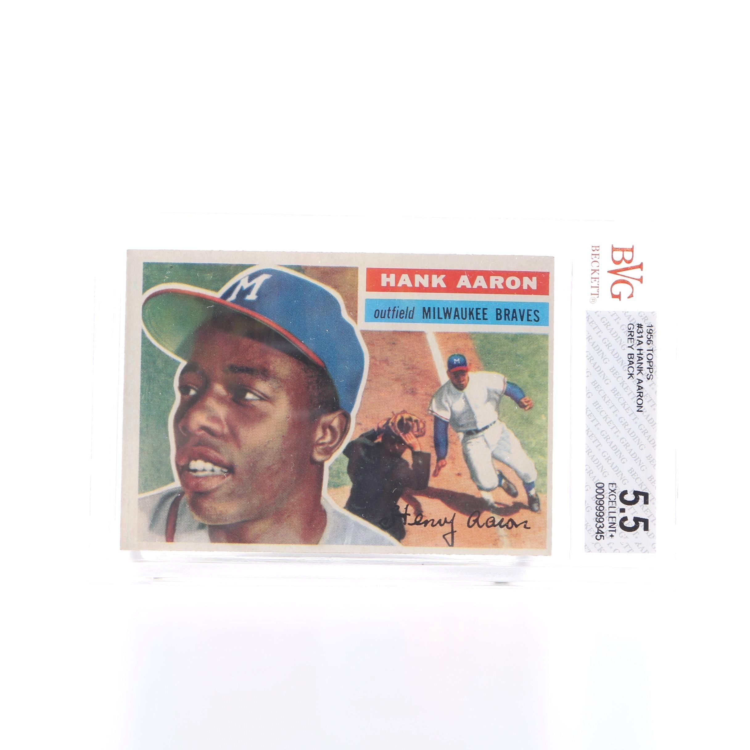 1956 Topps Hank Aaron Card