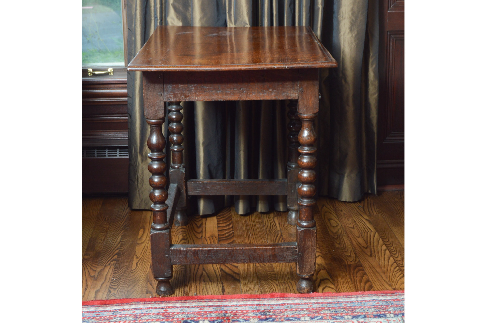 Antique William and Mary Style Oak Tavern Table