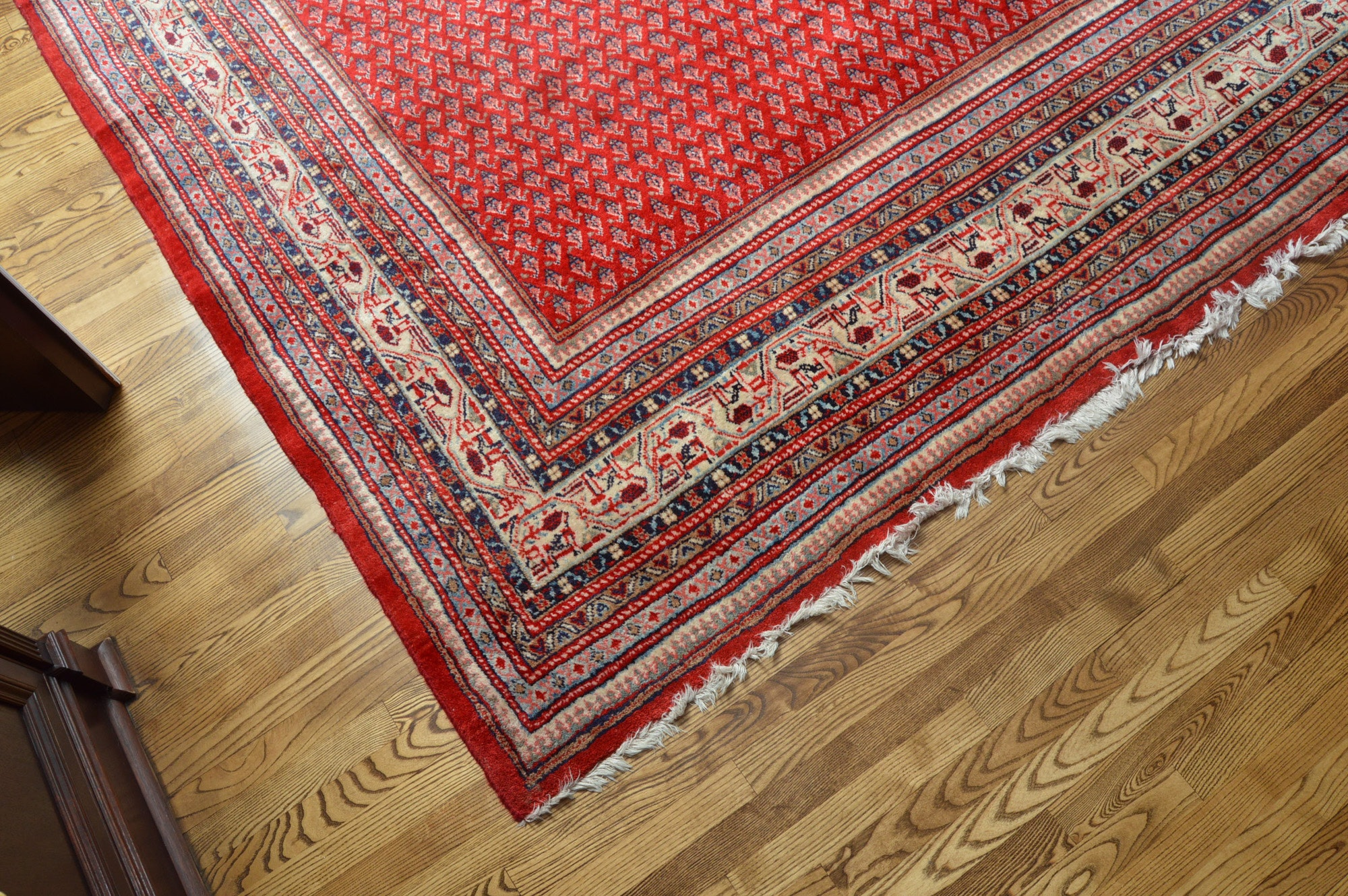 """Large Hand-Knotted Persian Serabend """"Mir-a-Boteh"""" Area Rug"""