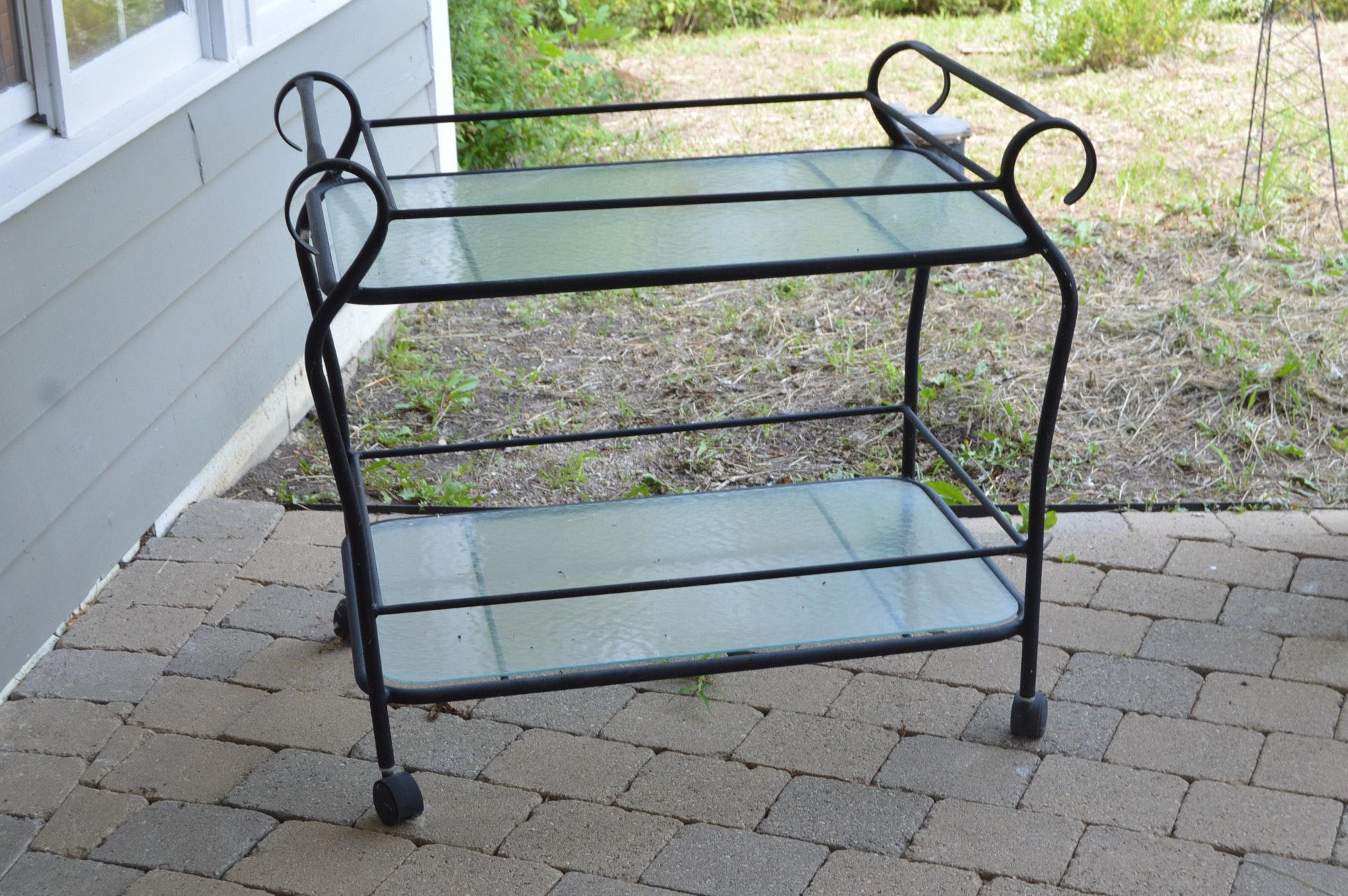 Black Bar Cart by Brown Jordan