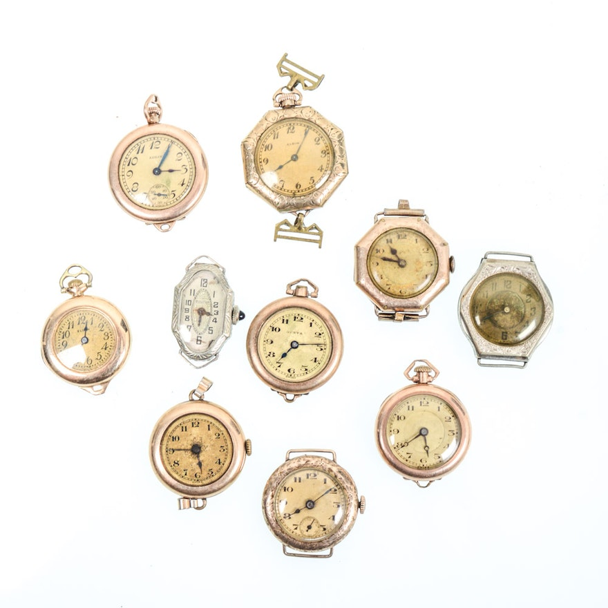 Vintage pocket watches and watch faces featuring elgin and bulova ebth vintage pocket watches and watch faces featuring elgin and bulova aloadofball Choice Image